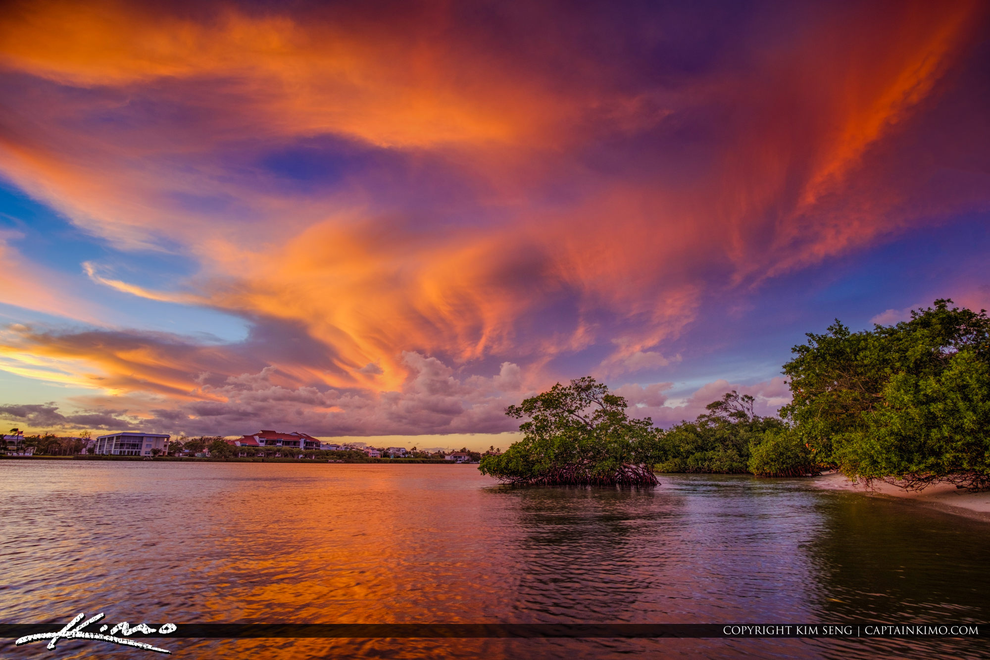 Beautiful Sky Colors Over the Jupiter Island Waterway