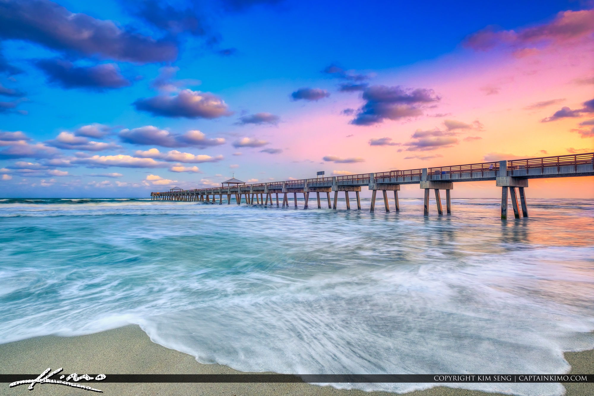Juno Pier Sunset with Pastel Colors