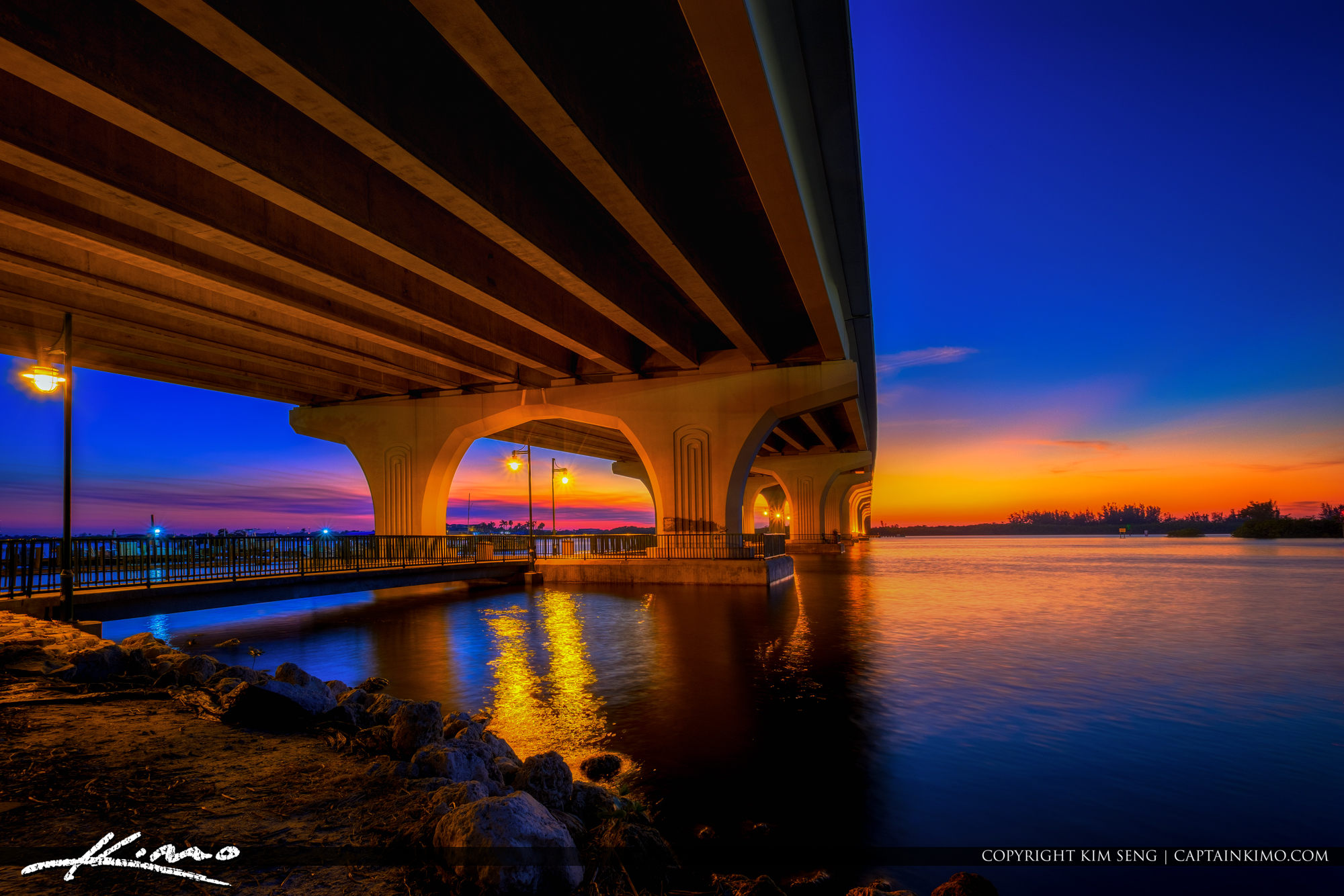 Merril P Barber Bridge at Riverside Cafe Vero Beach Florida