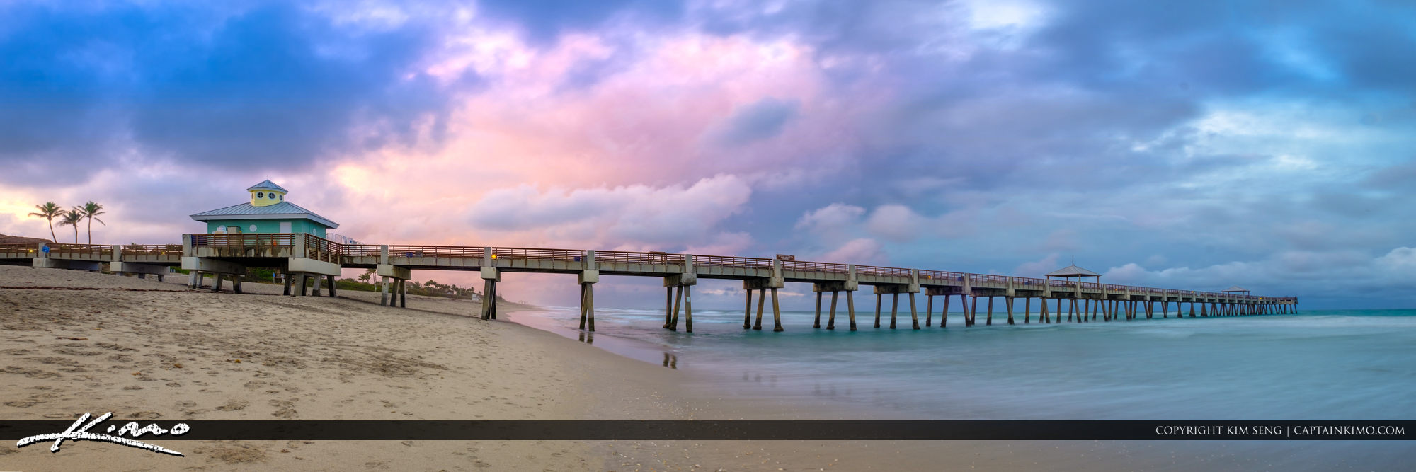 Panoramic Juno Pier Image South Florida