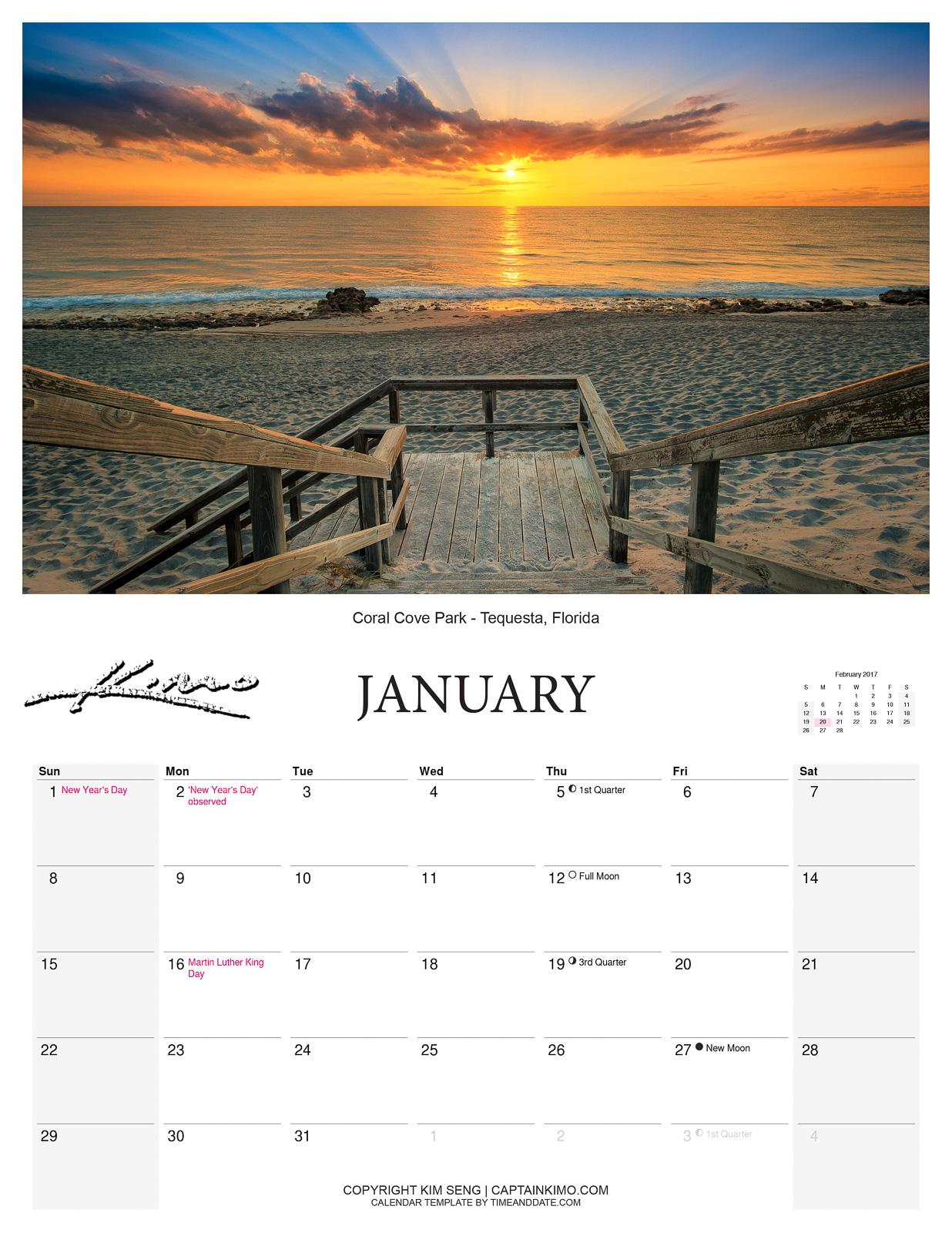 Captain Kimo Calendar 2017