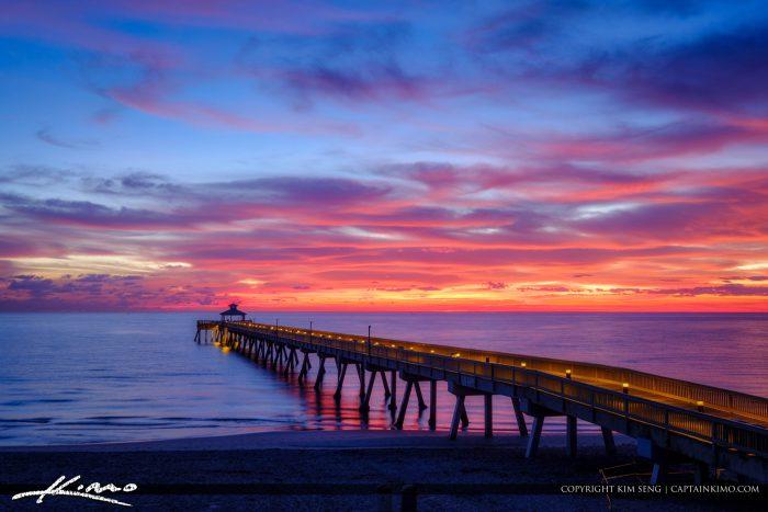 Deerfield Beach International Fishing Pier Beautiful Morning Light