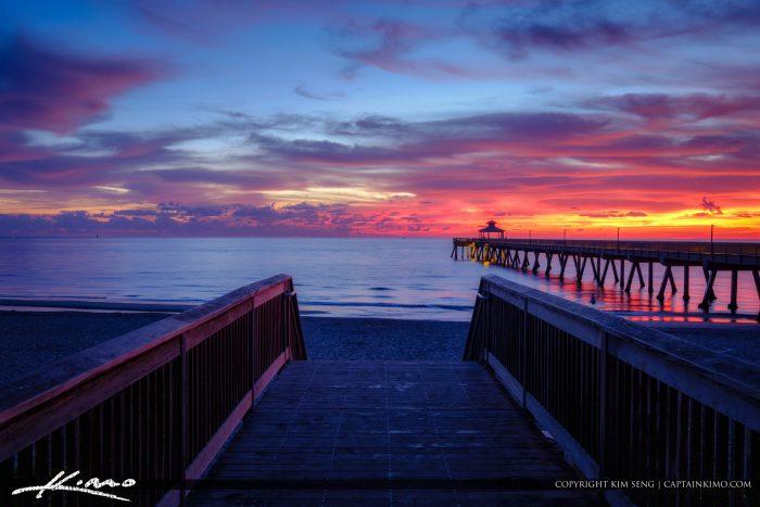 Deerfield Beach International Fishing Pier Stairway to Beach