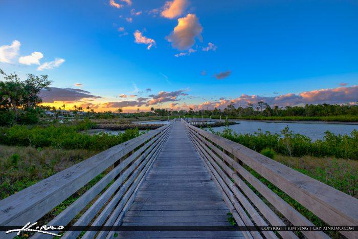 Juno Dunes Natural Area Boardwalk at Boat Dock