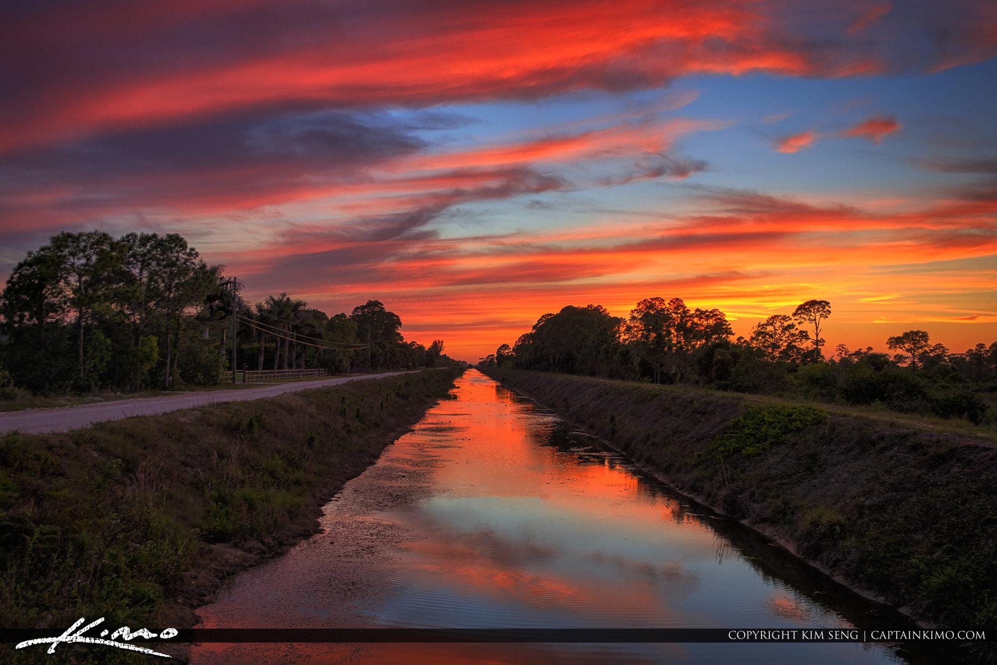 JW Corbett Wildlife Management Area Sunset Loxahatchee Florida