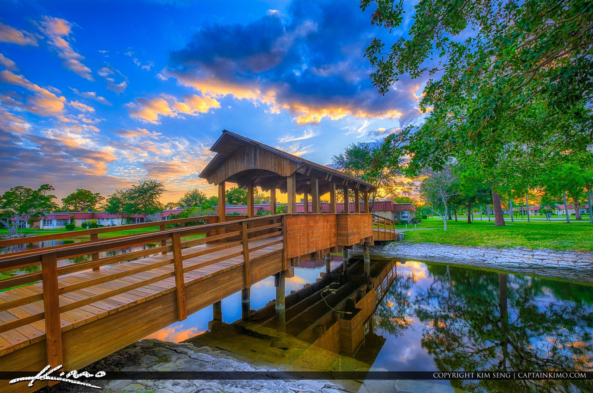 Lake Worth Florida Covered Bridge