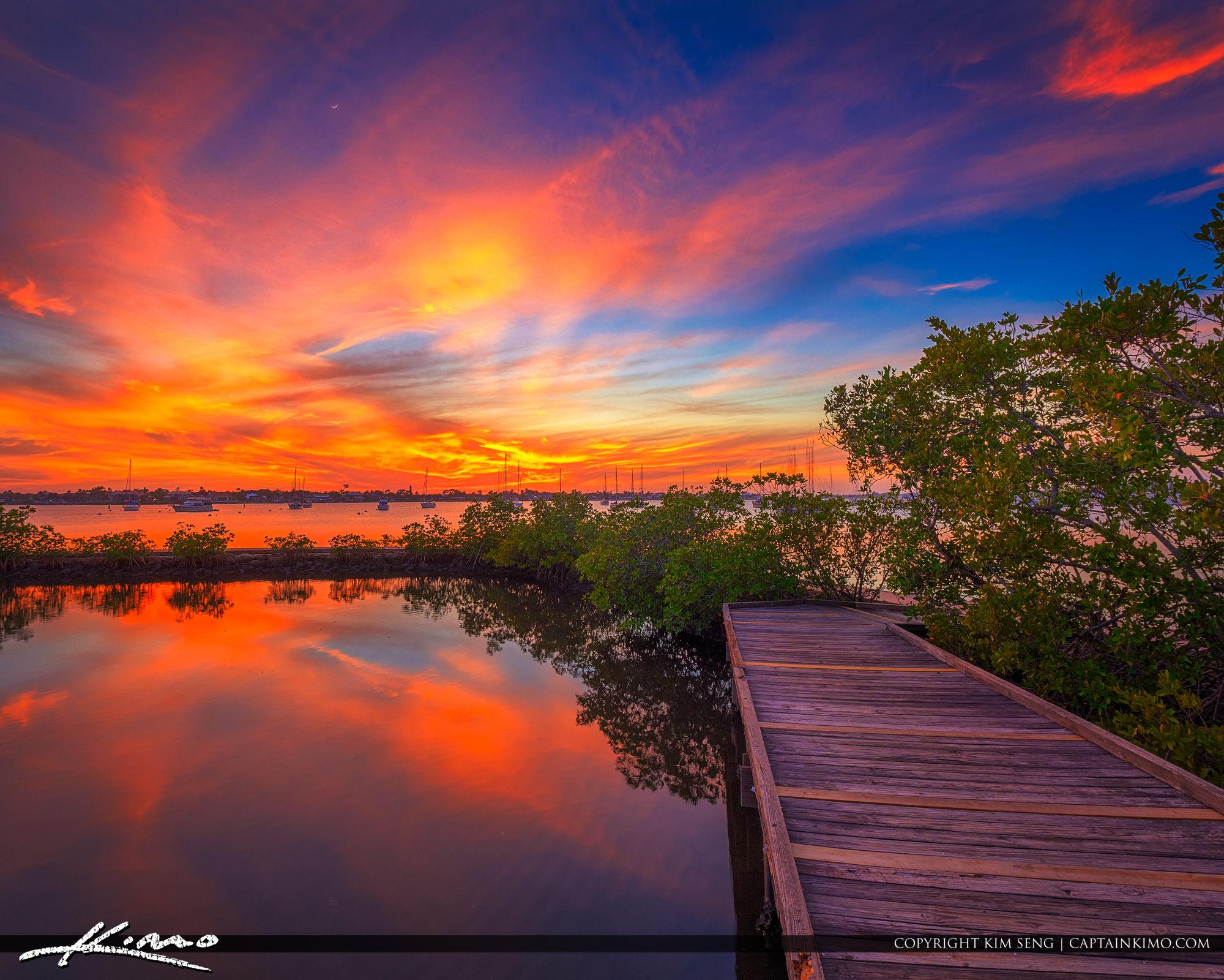 Shepard Park Sunset Stuart Florida at Boardwalk