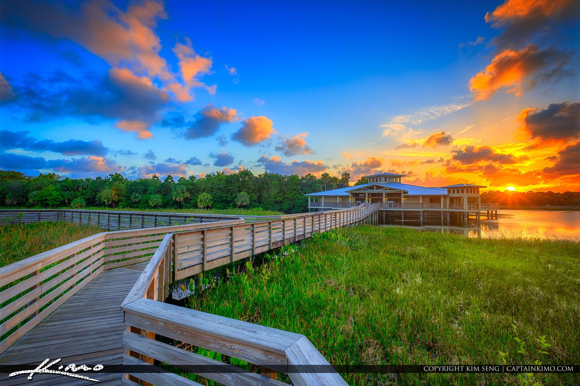Green Cay Nature Center and Wetlands Boynton Beach Sunset