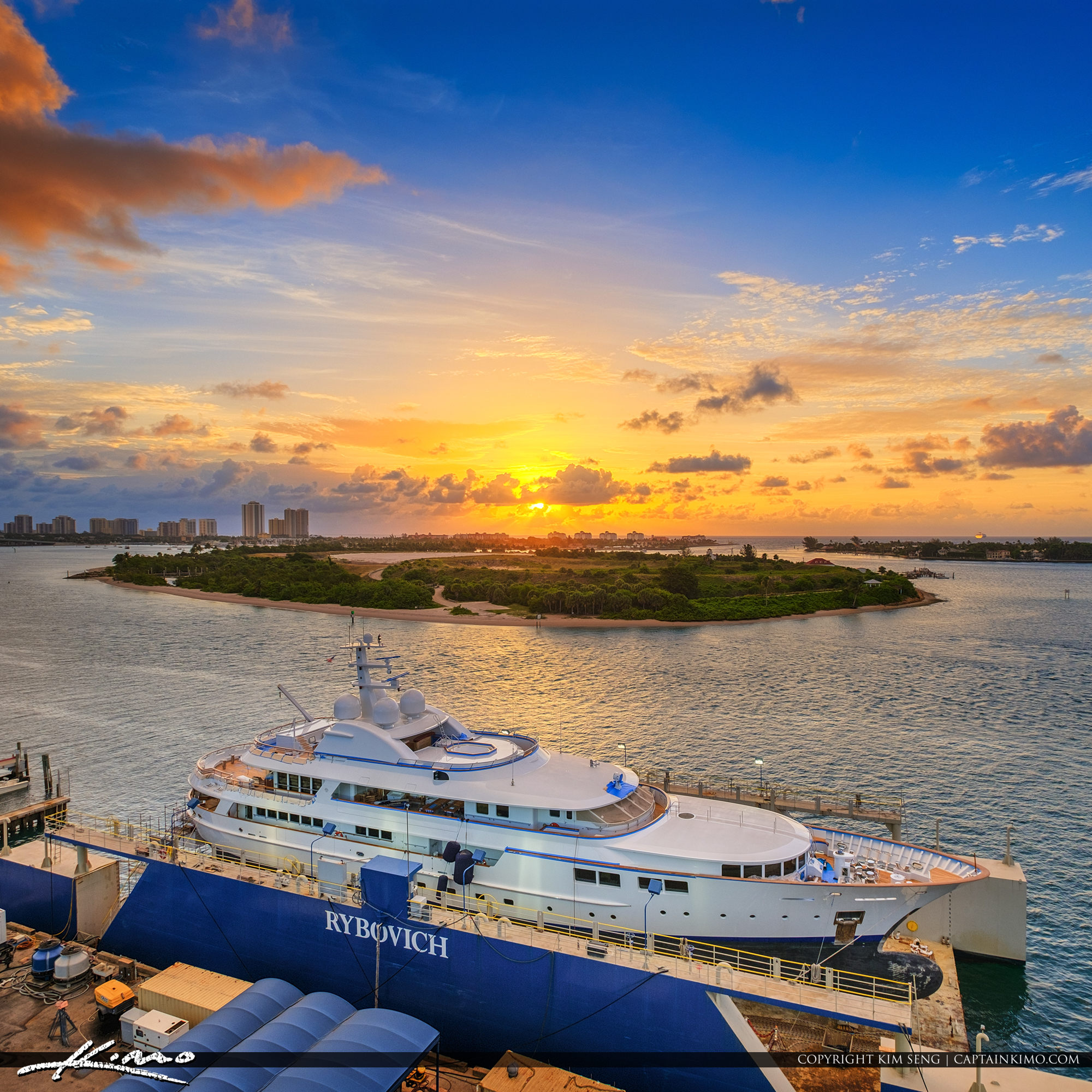 Port of Palm Beach Sunrise Over Peanut Island