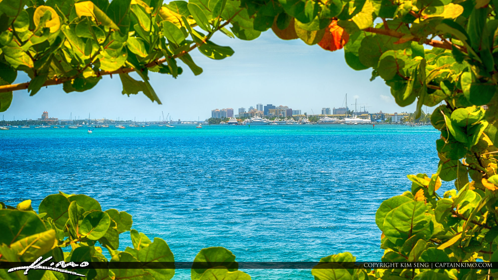 West Palm Beach Skyline from Peanut Island