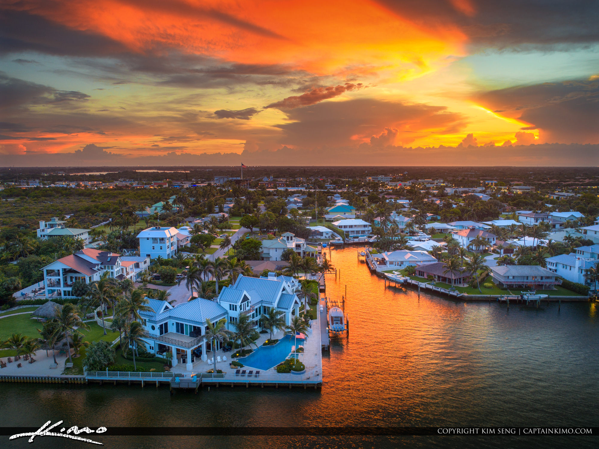 Paradise Sunset Tequesta Florida Waterfront Property