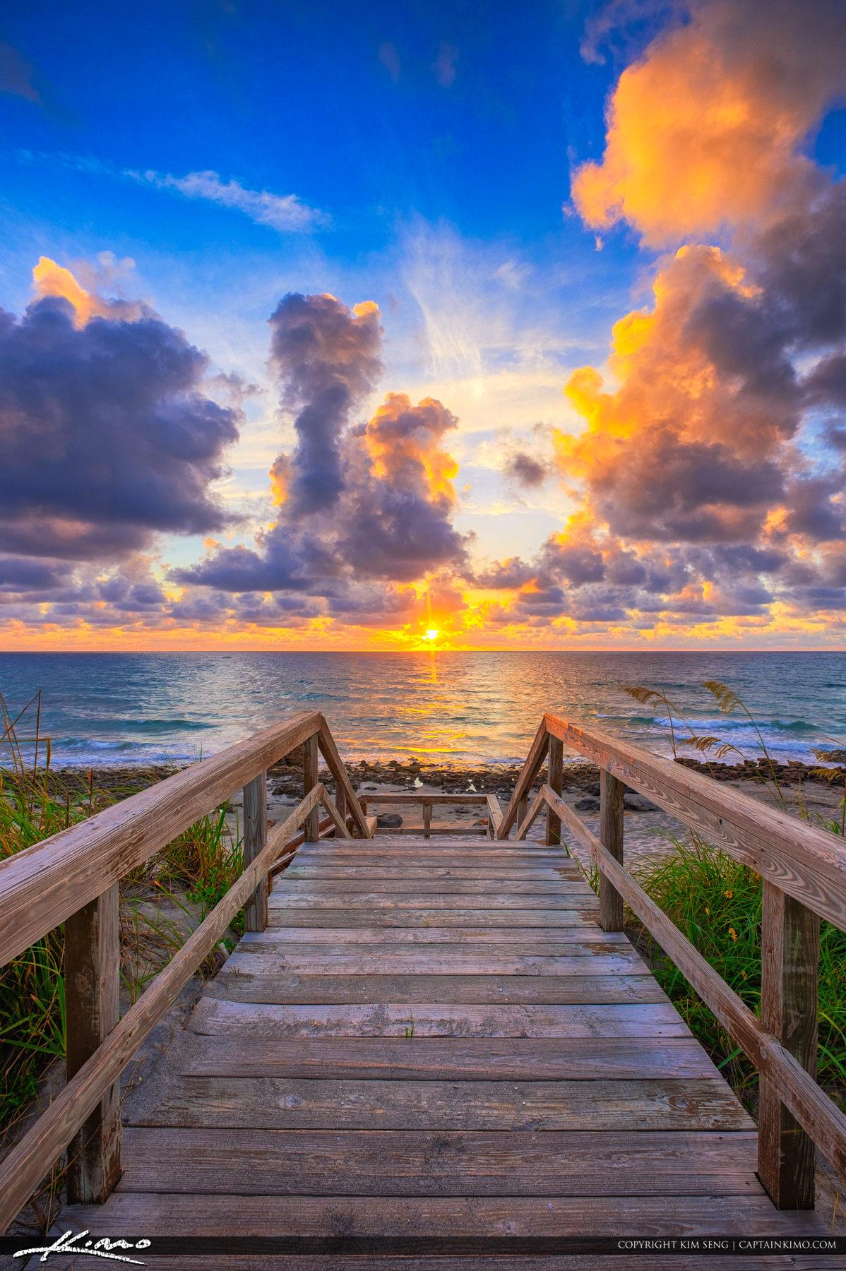 Sunrise from Tequesta Florida Jupiter Island Coral Cove Park
