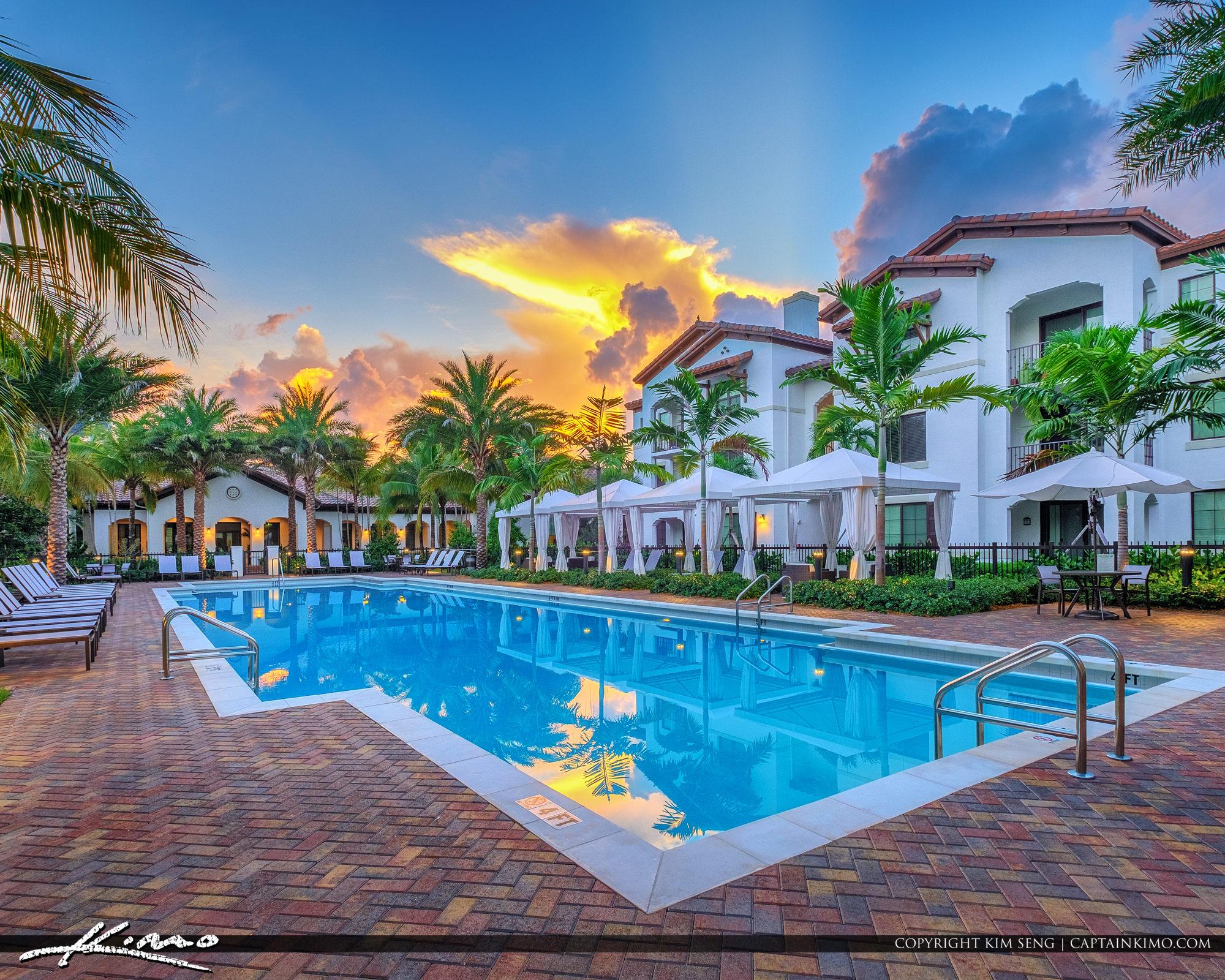 ParcStation Hollywood Florida Sunrise at the Pool