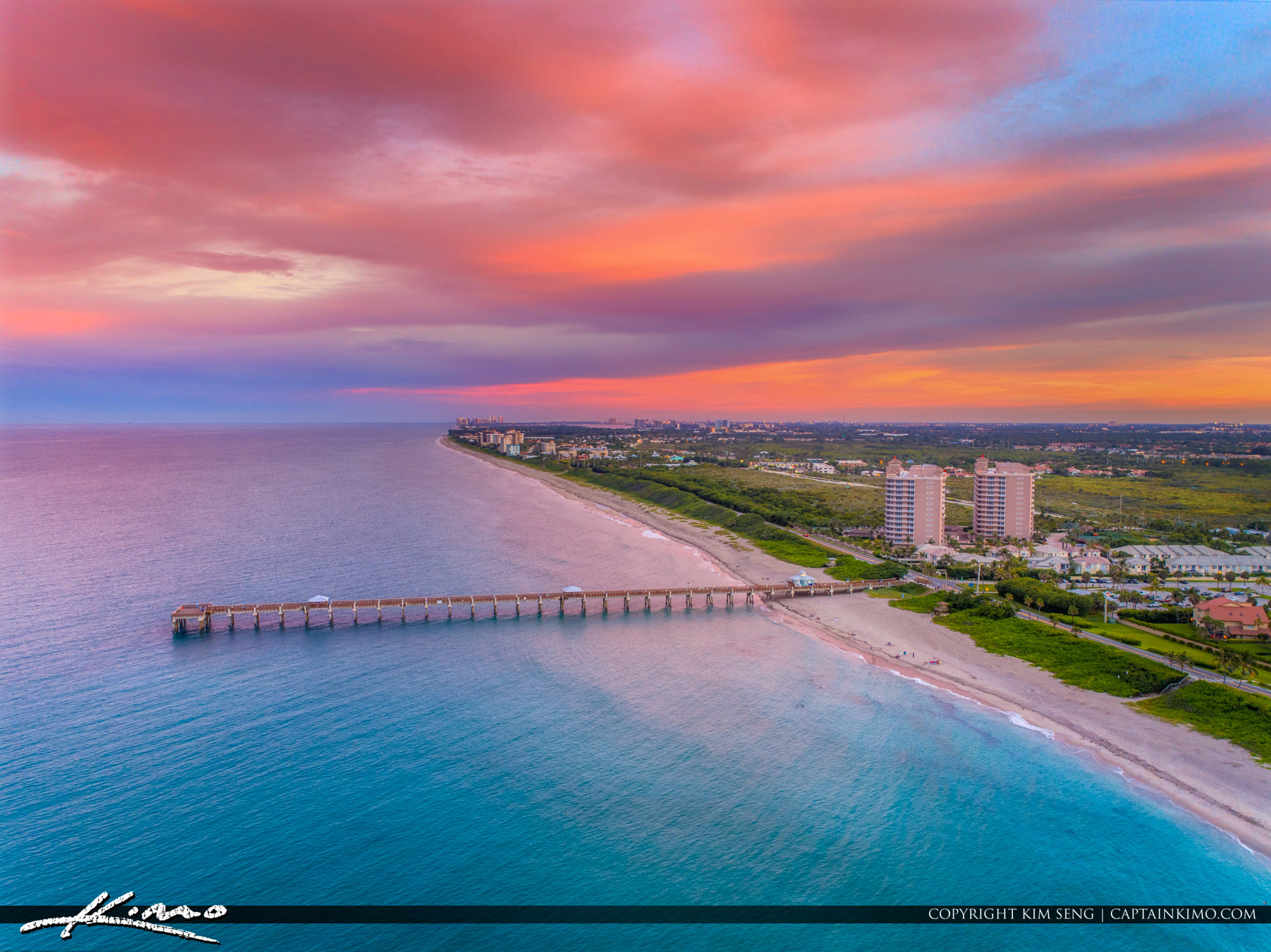 Amazing Clouds Over Juno Beach Pier to the South