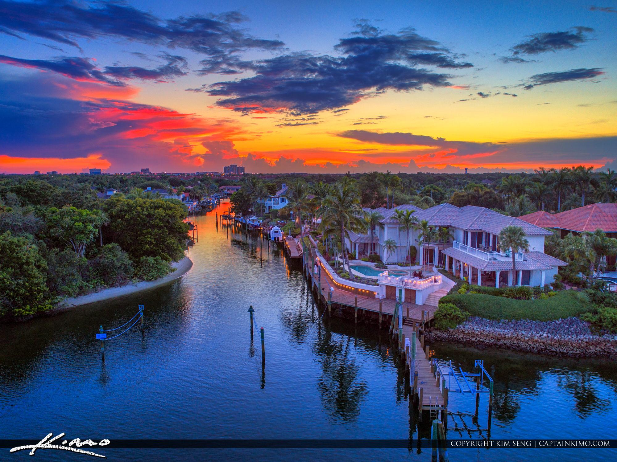 Palm Beach Gardens Juno Beach Waterfront Property Sunset