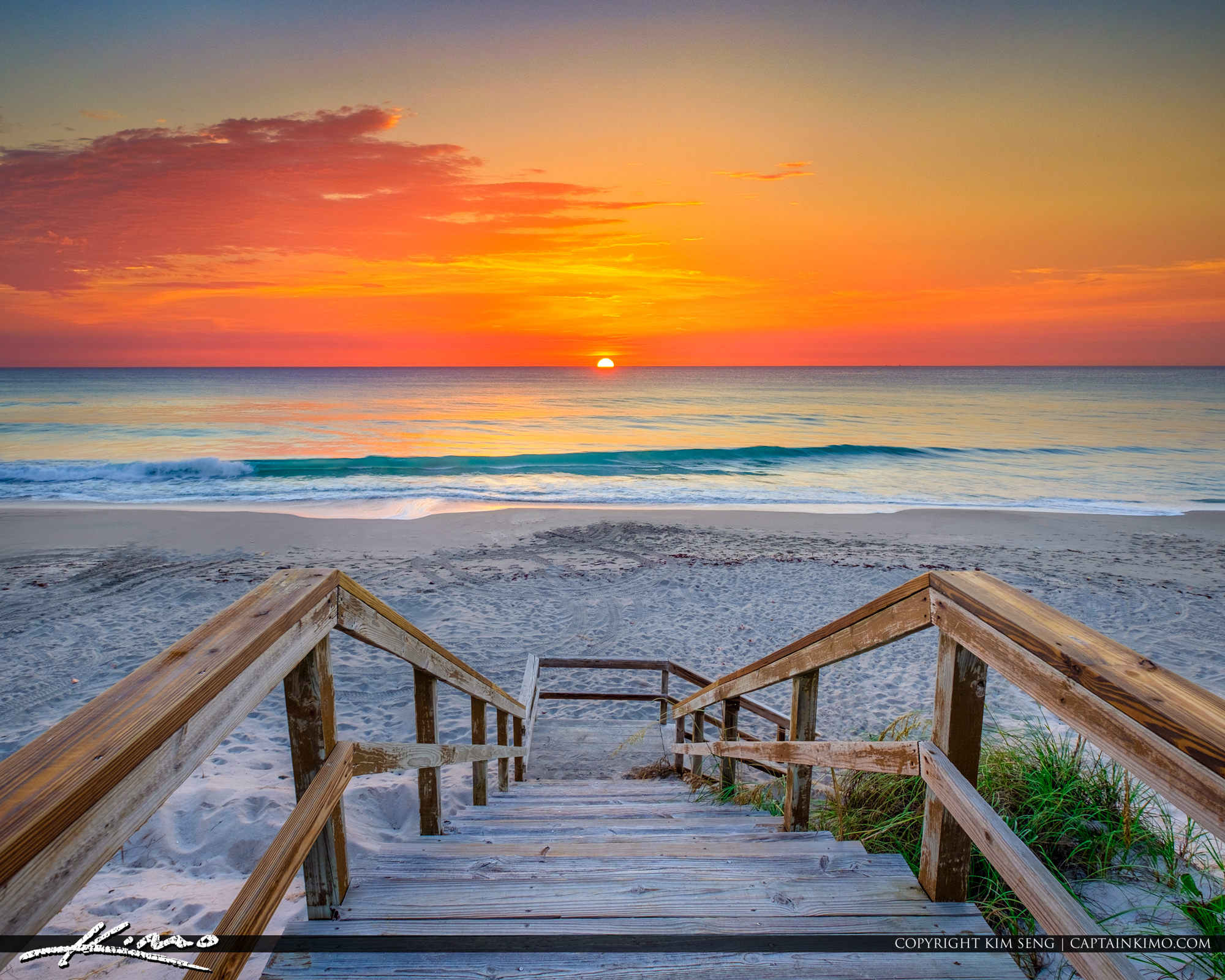 Sunrise Jupiter Island at Coral Cove Park Stairs Square