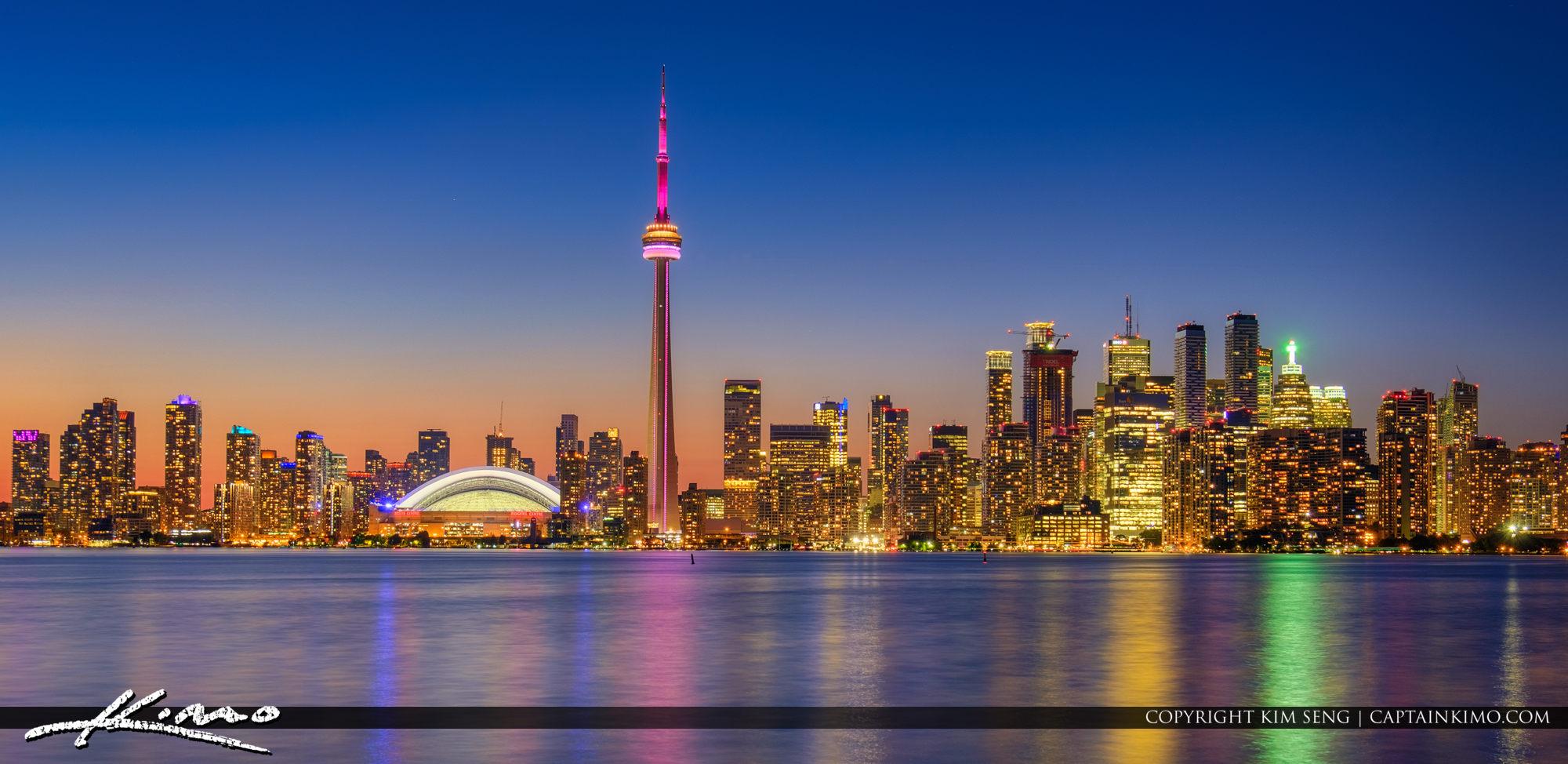 Toronto Ontario Canada Skyline from Center Island