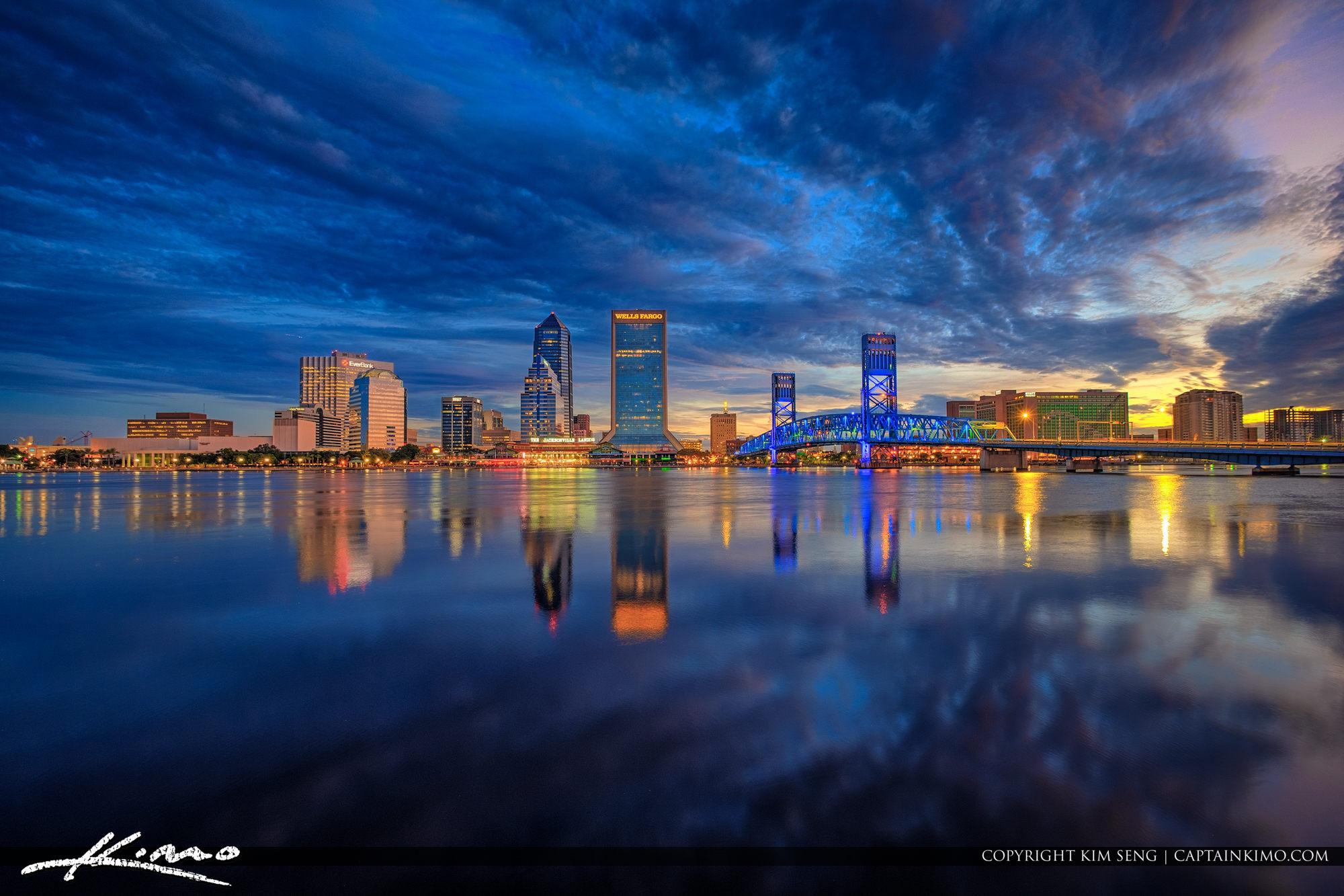 Jacksonville Florida Skyline St Johns River Duval County