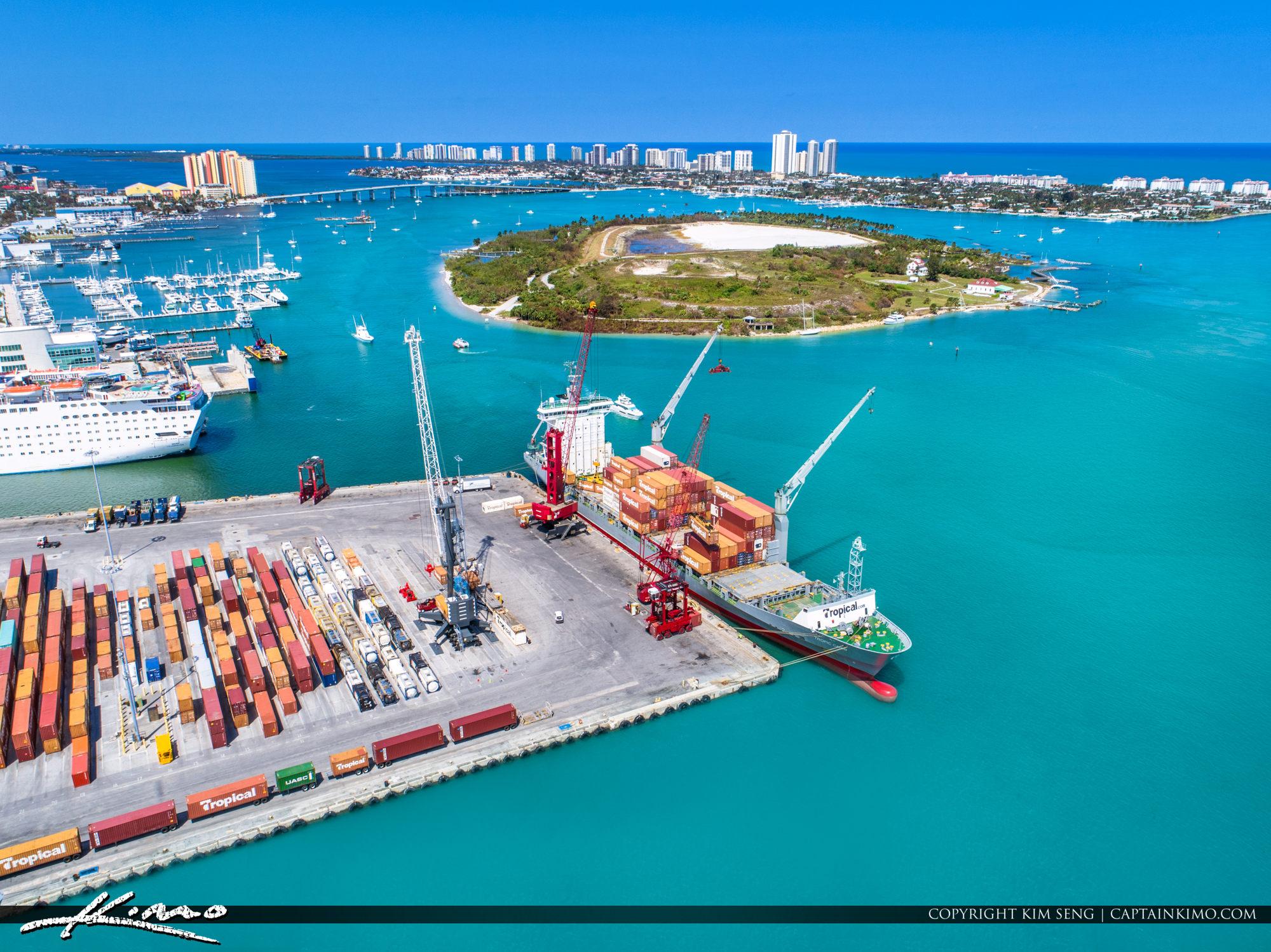 Port of Palm Beach Aerial