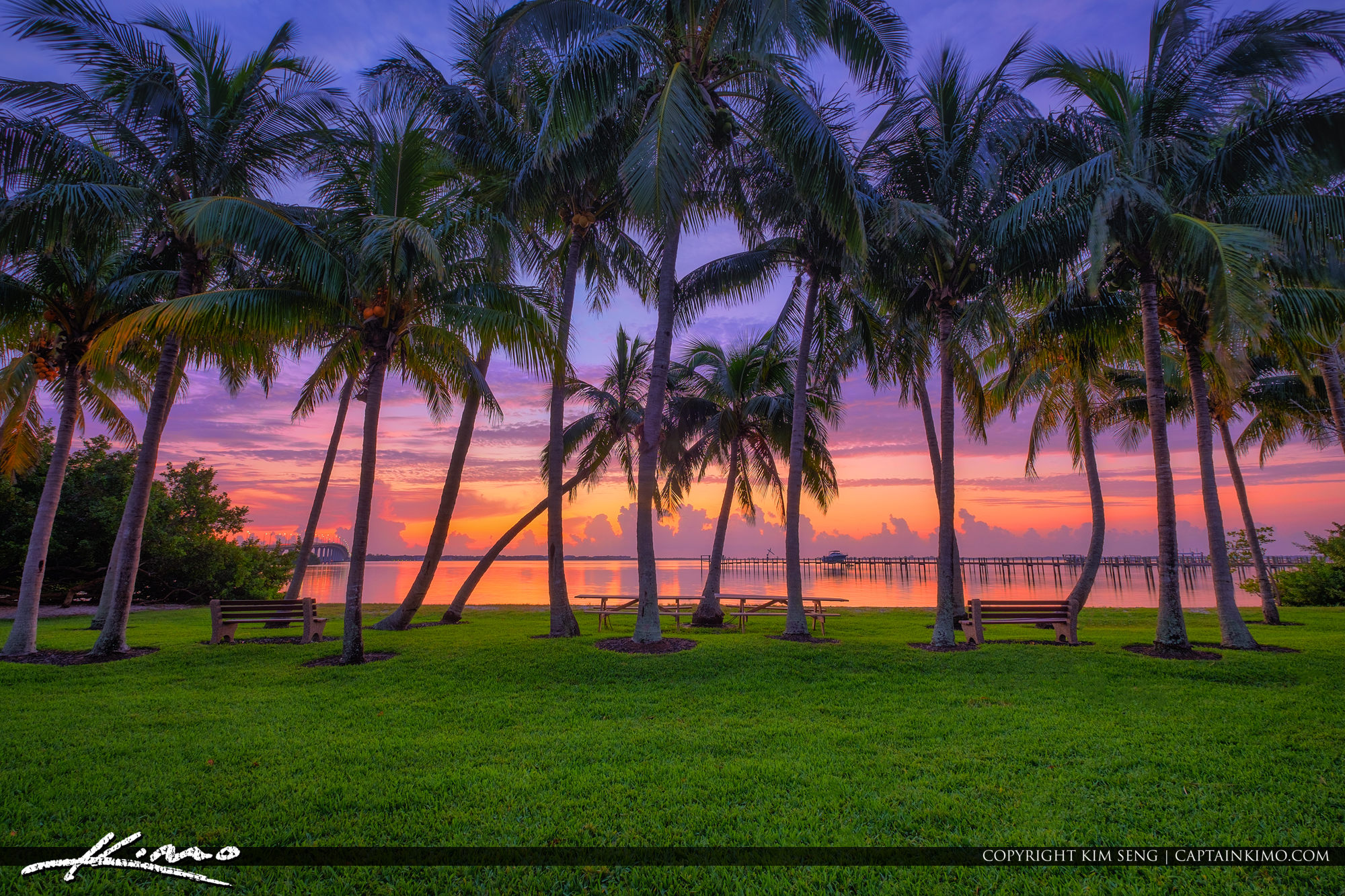 Sewalls Point Park Sunrise at Waterway Stuart Florida