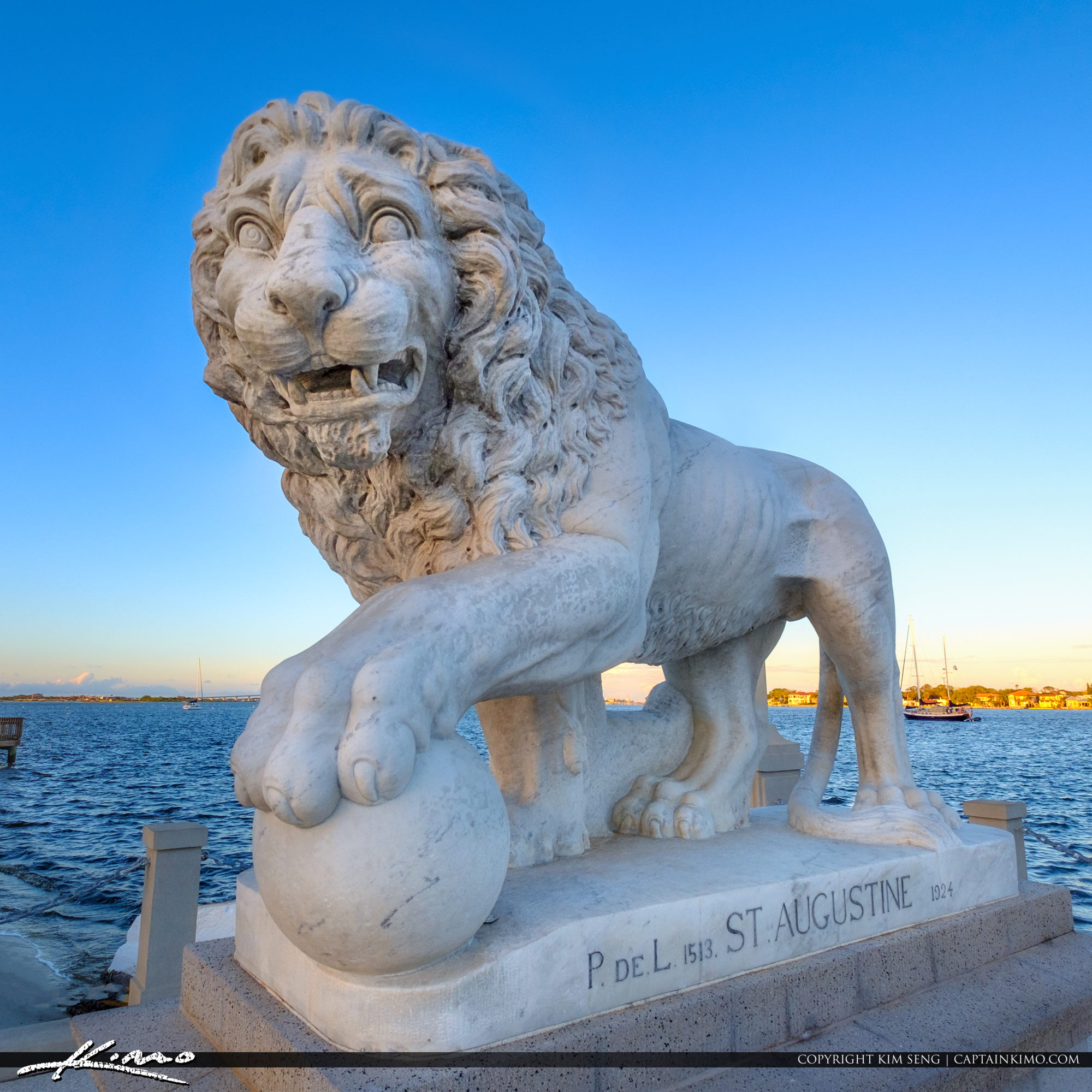 Bridge of Lions St Augustine Florida by Castillo de San Marcos