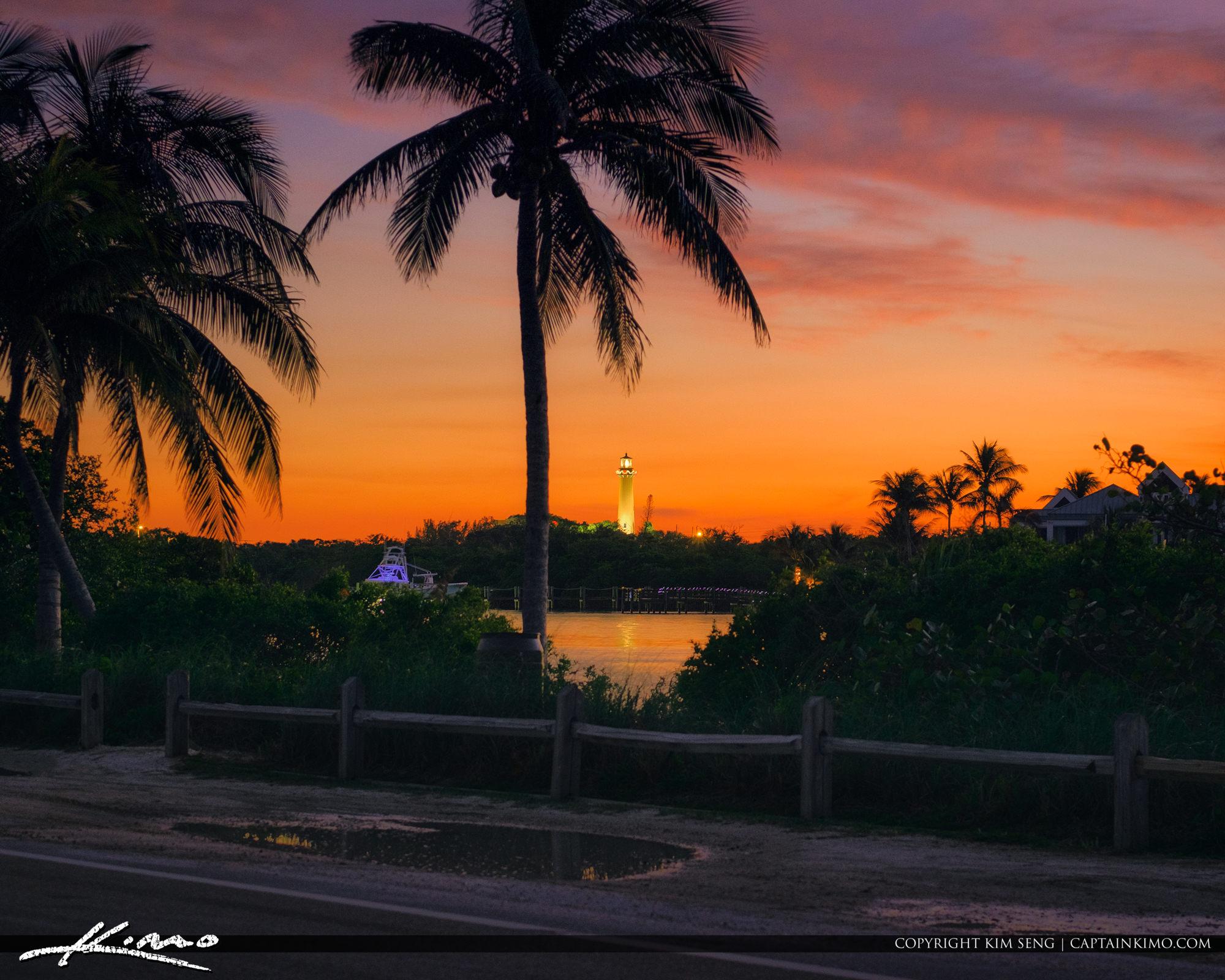 Sunset from Jupiter Island Jupiter Lighthouse
