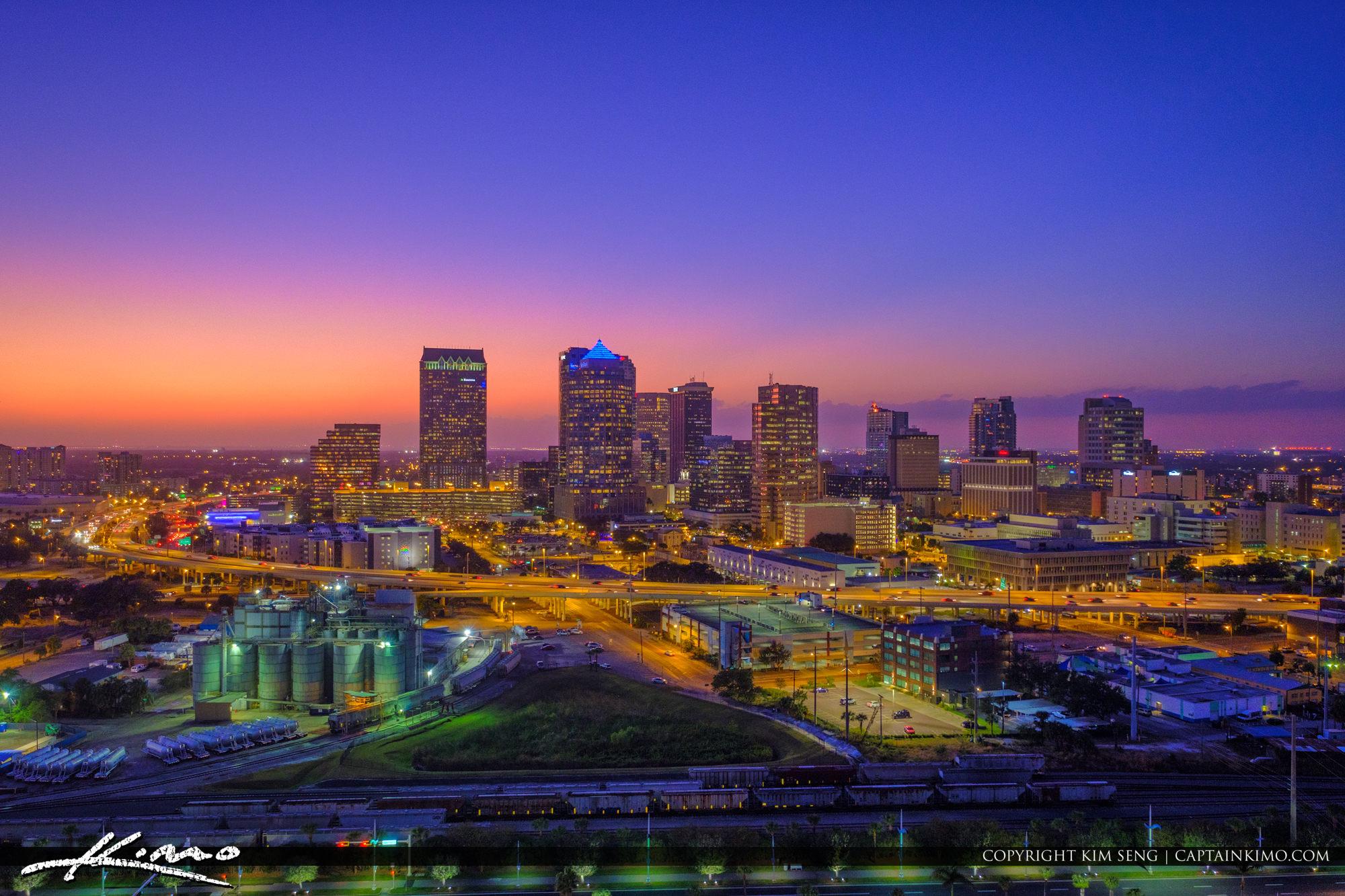 Tampa Skyline After Sunset