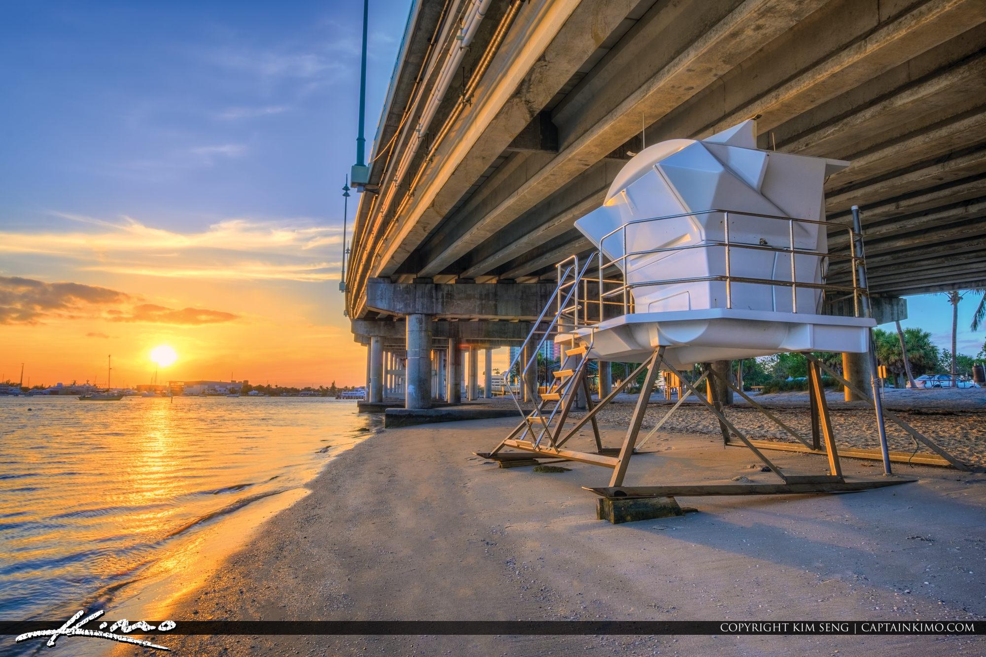 Phil Foster Park Singer Island Blue Heron Bridge Sunset