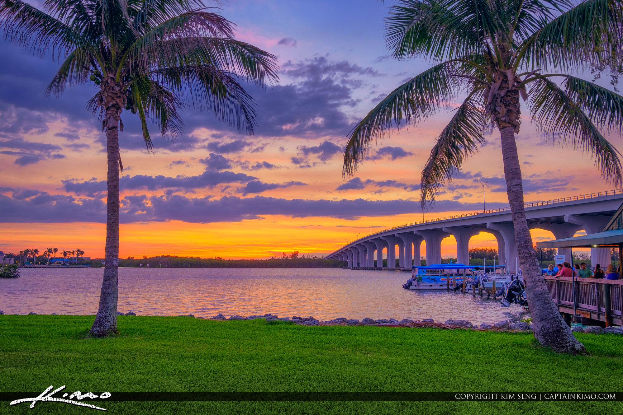 Vero Beach Sunset Over the Waterway Coconut Tree