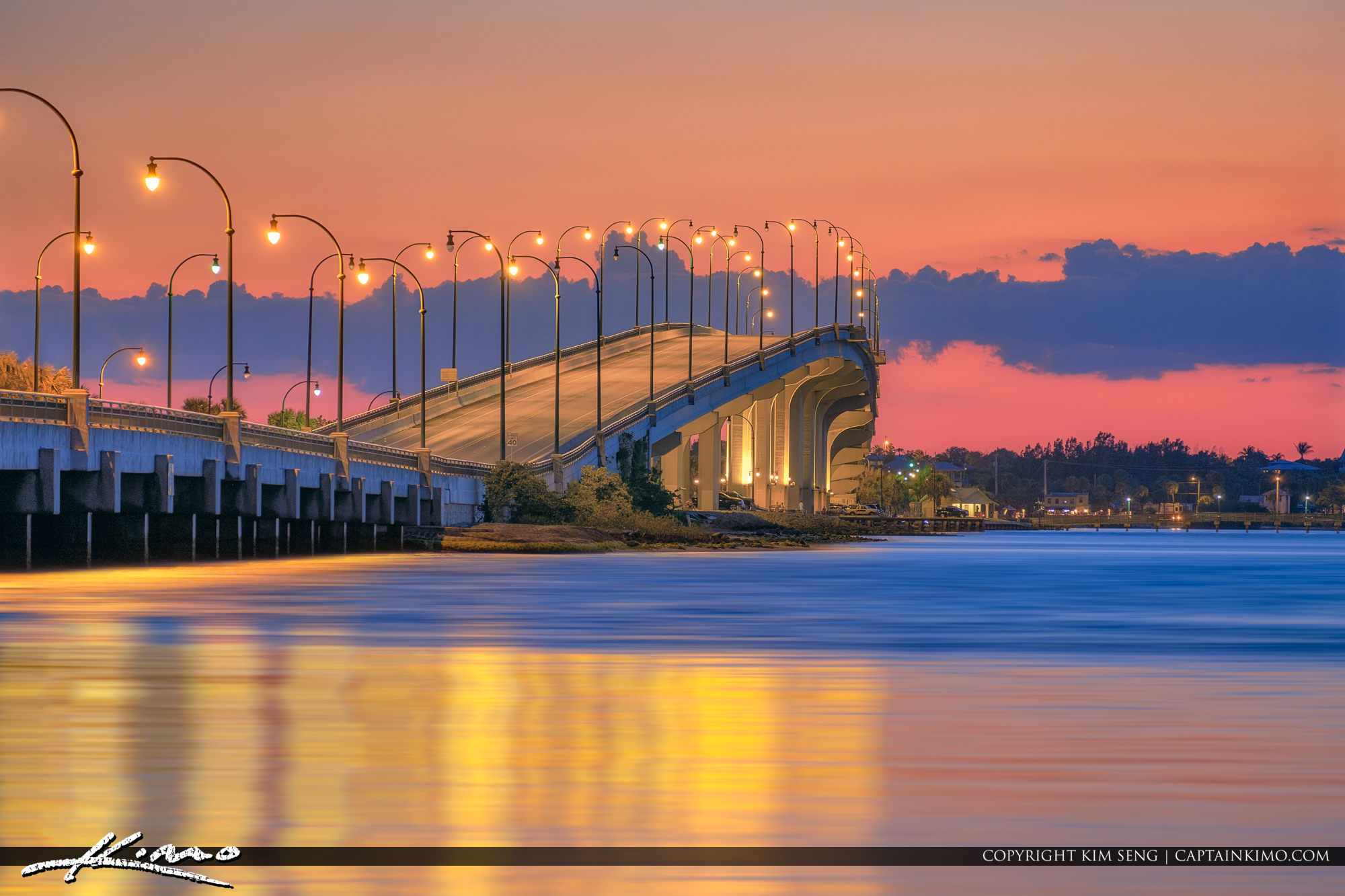 Jensen Beach Causeway After the Sunset Martin County