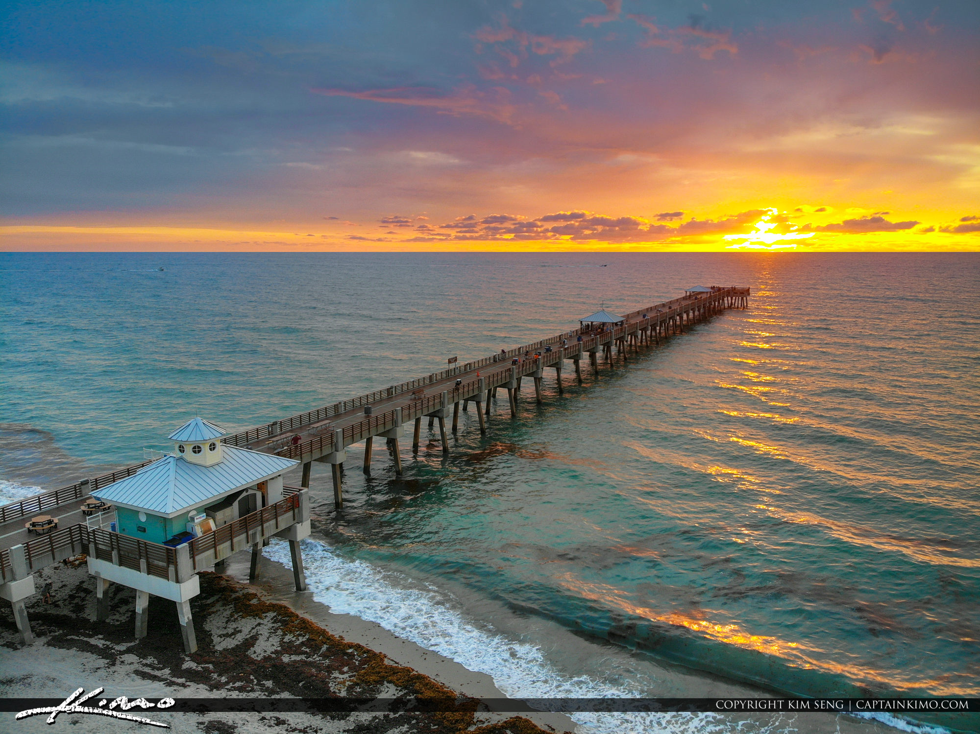 Mavic Air Aerial HDR Photography Juno Beach Pier