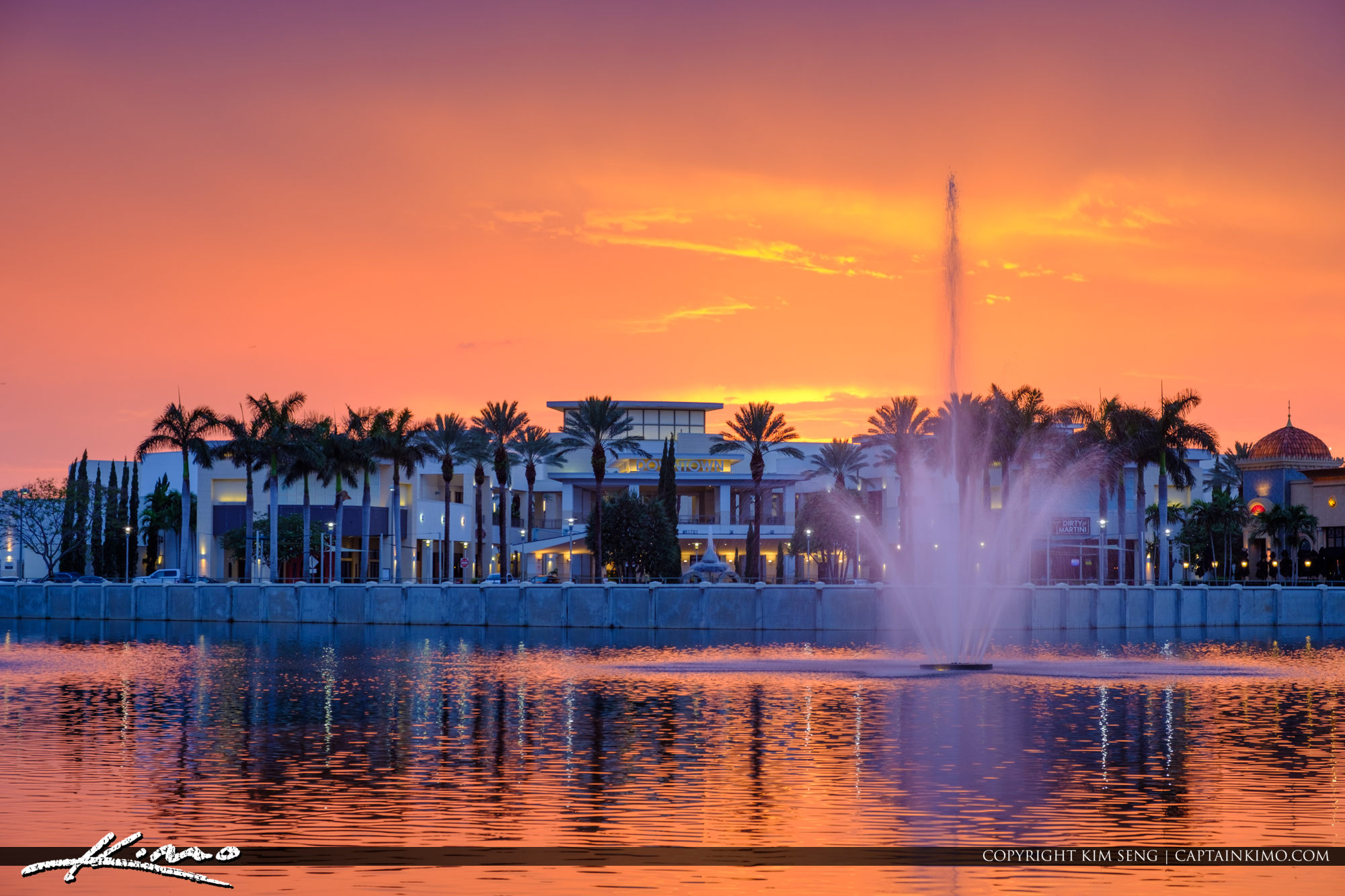 PBG Sunset from Downtown at the Gardens