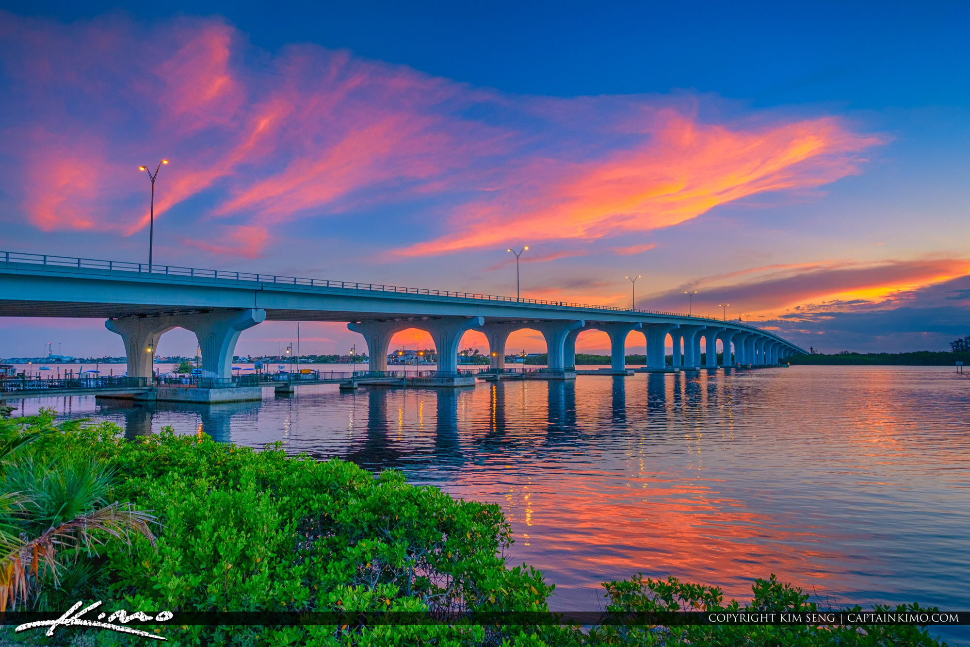 Merril P Barber Bridge Indian River County Sunset