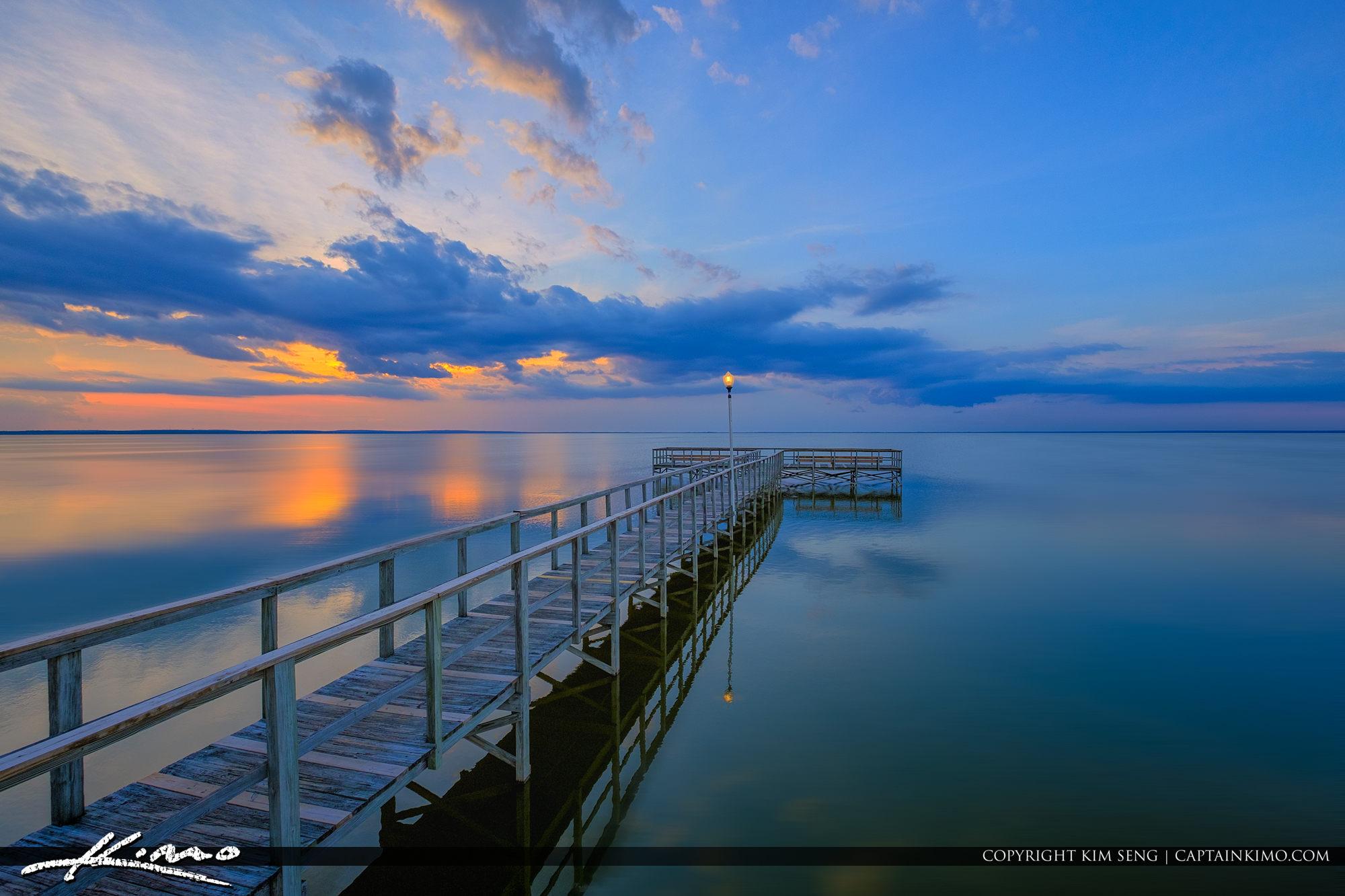 Lake Apopka Newton Park Winter Garden Sunset