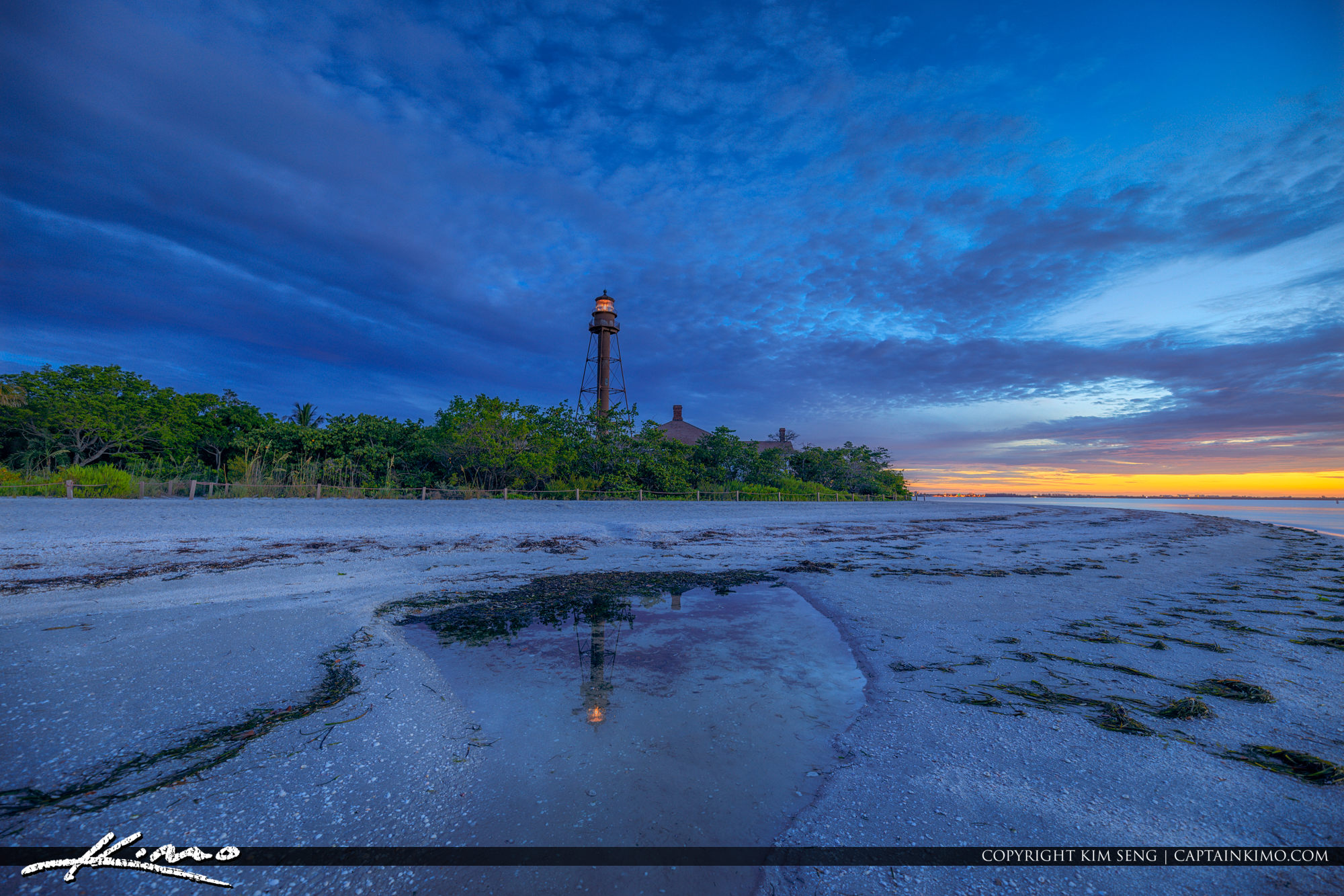 Sanibel Lighthouse at Lighthouse Beach Park During Sunrise