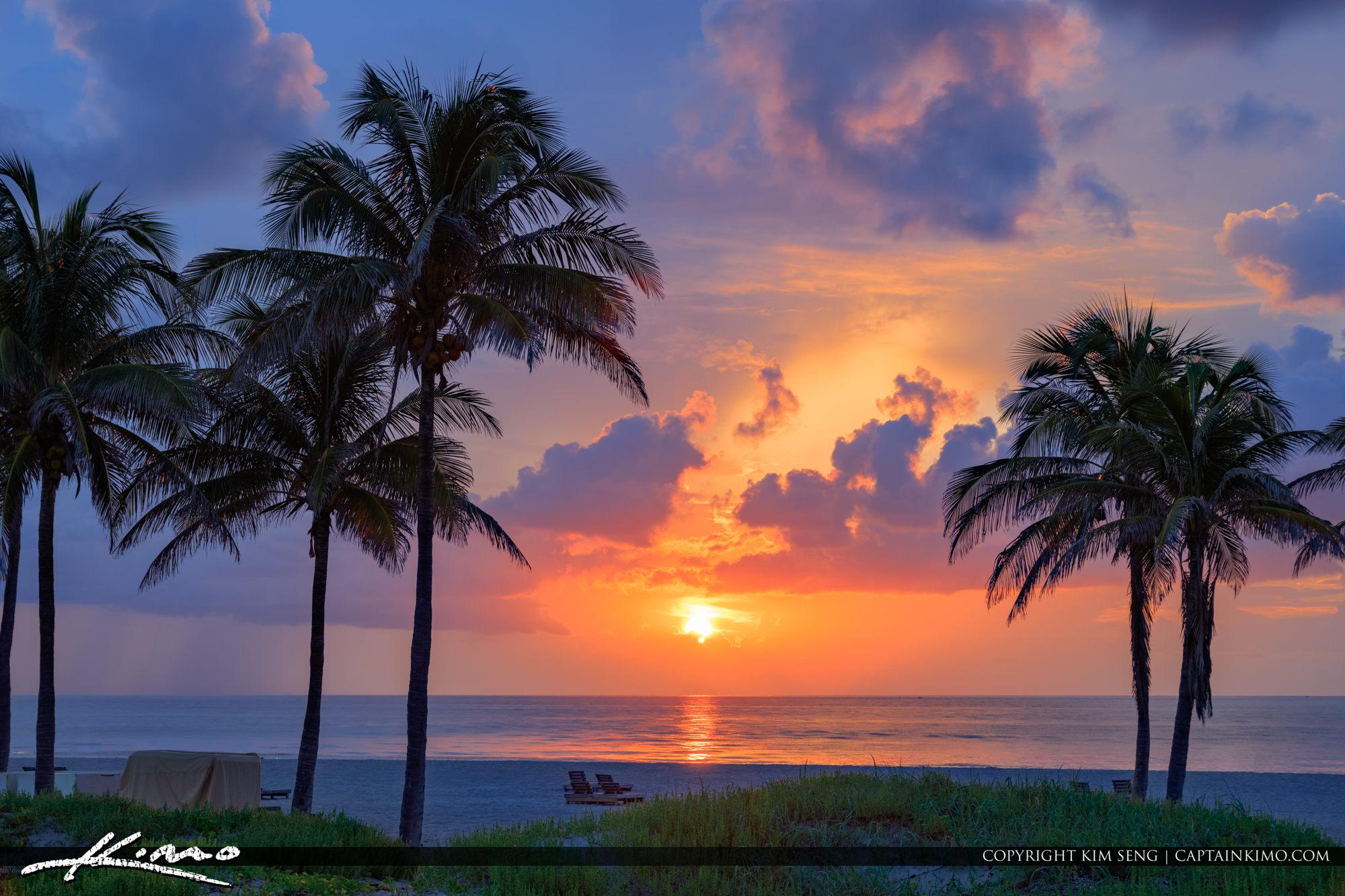Sunrise Singer Island at City Beach Park Riviera Beach Florida