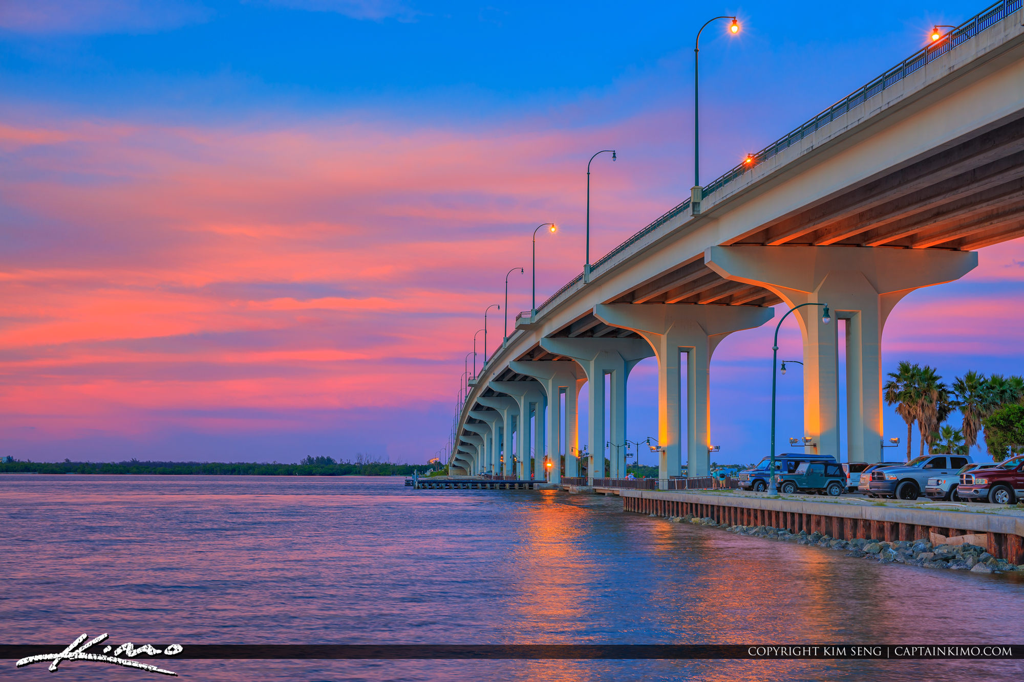 Jensen Beach Causeway Purple Sky Hutchinson Island