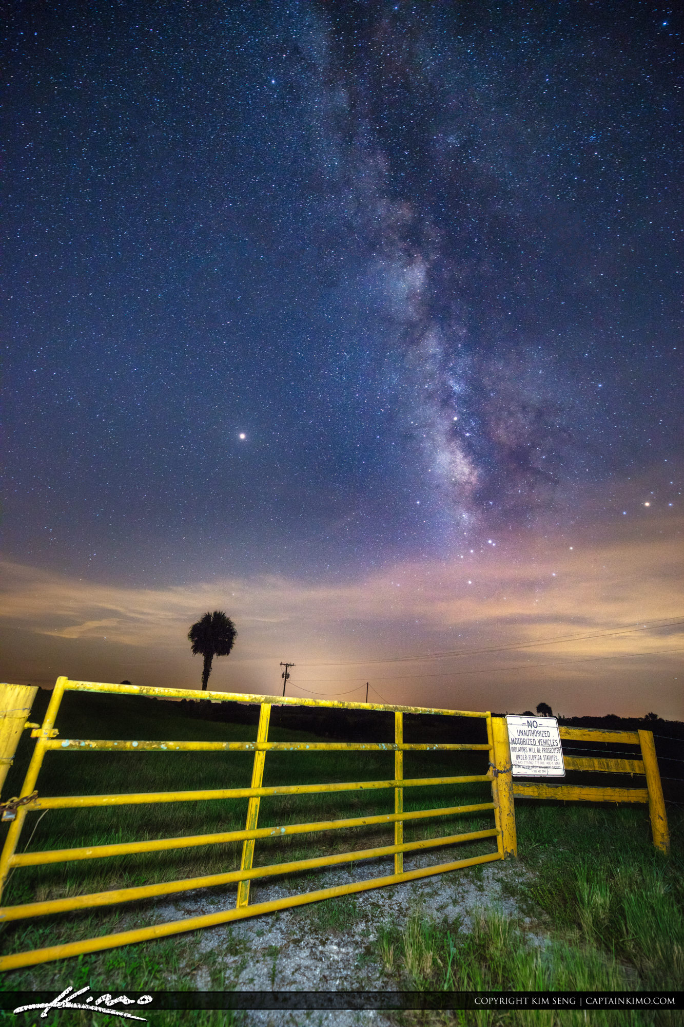 Milkyway Over Okeechobee Florida at the Gate