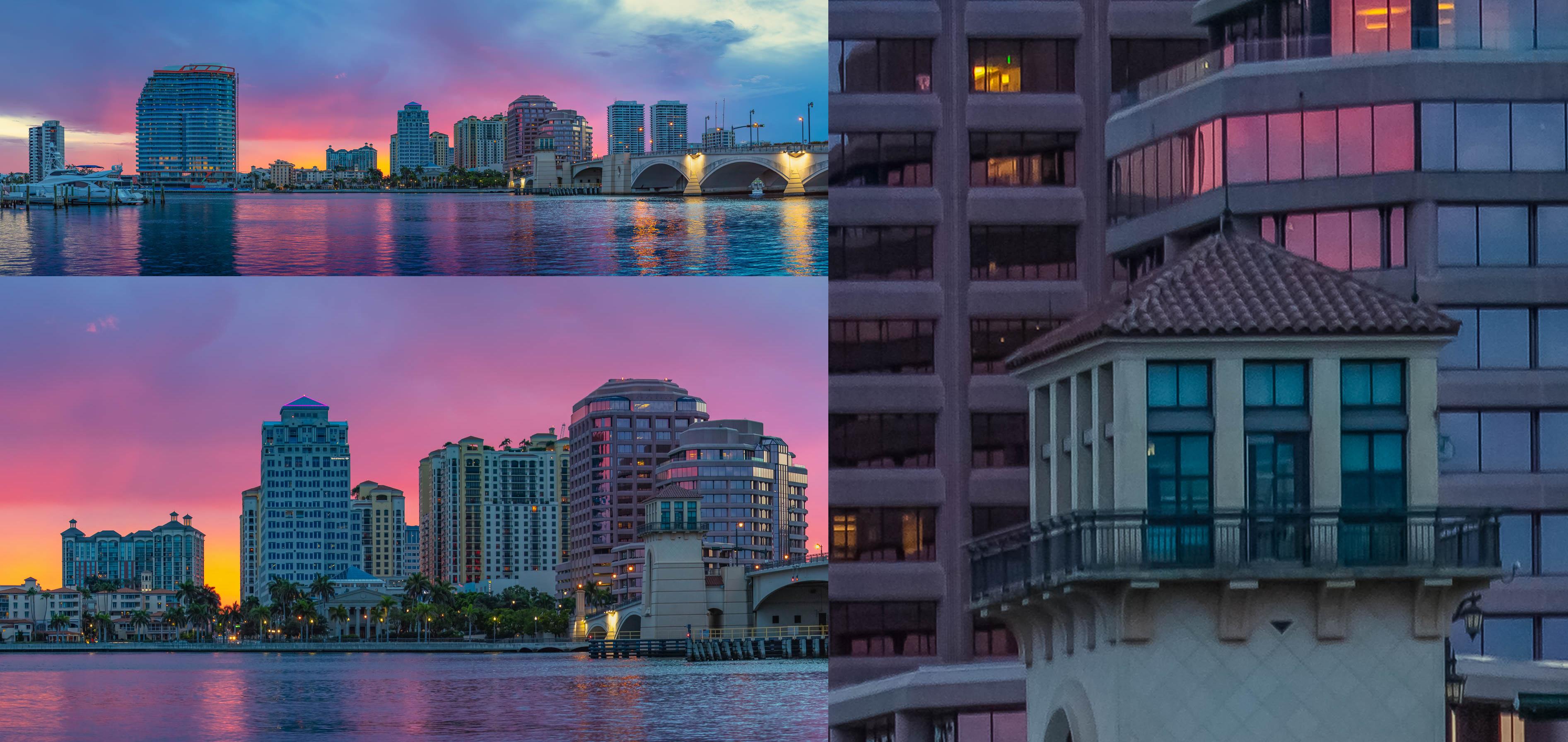 West Palm Beach Gigapan Sunset Waterway