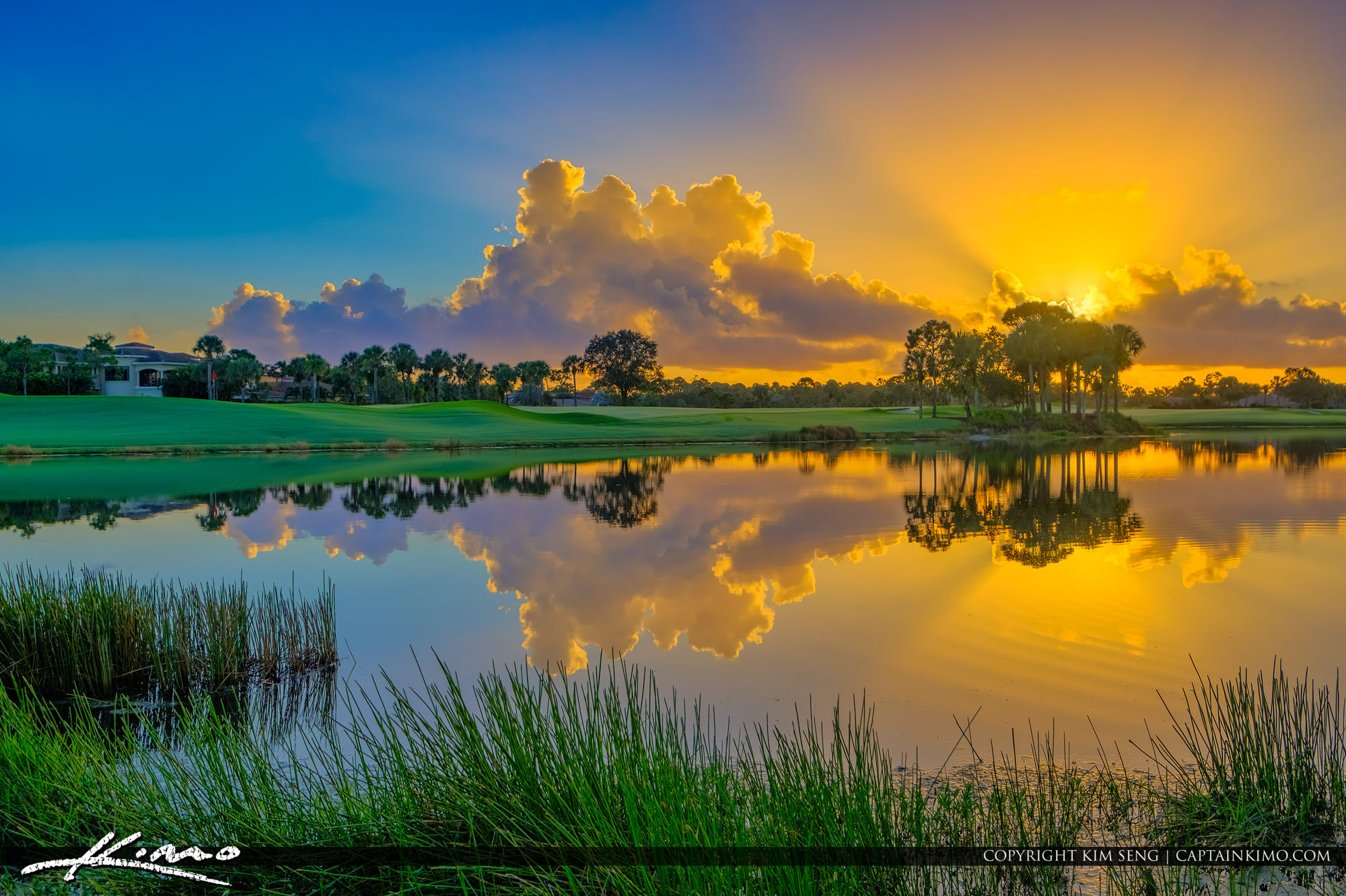 Mirasol Country Club Sunrise at Golf Course Lake