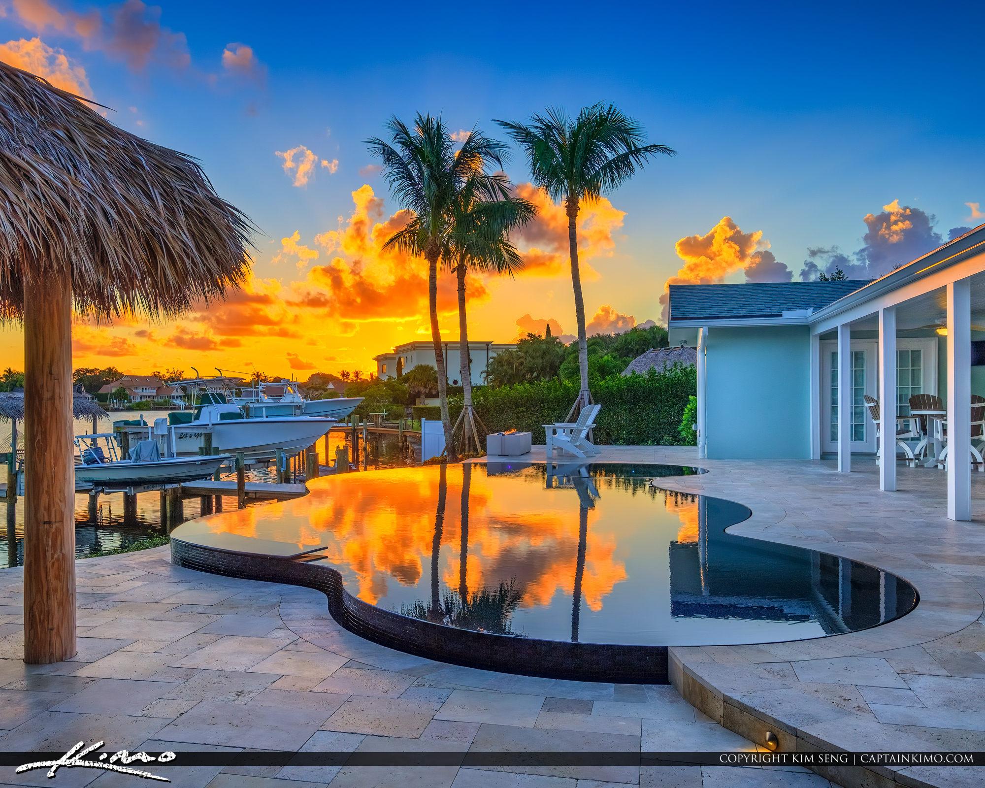 Tequesta Florida Treasure Coast Pool Infinity Pool