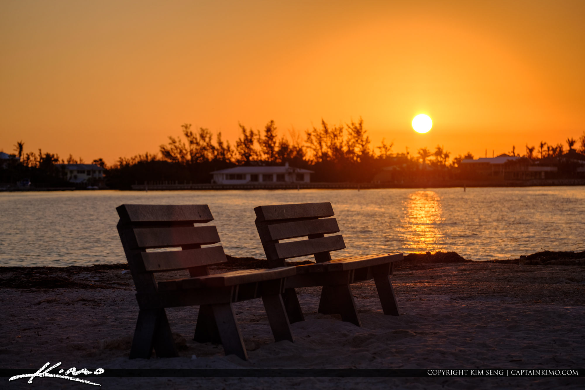 Beanch at Sunrise Sombrero Beach Marathon Florida Keys