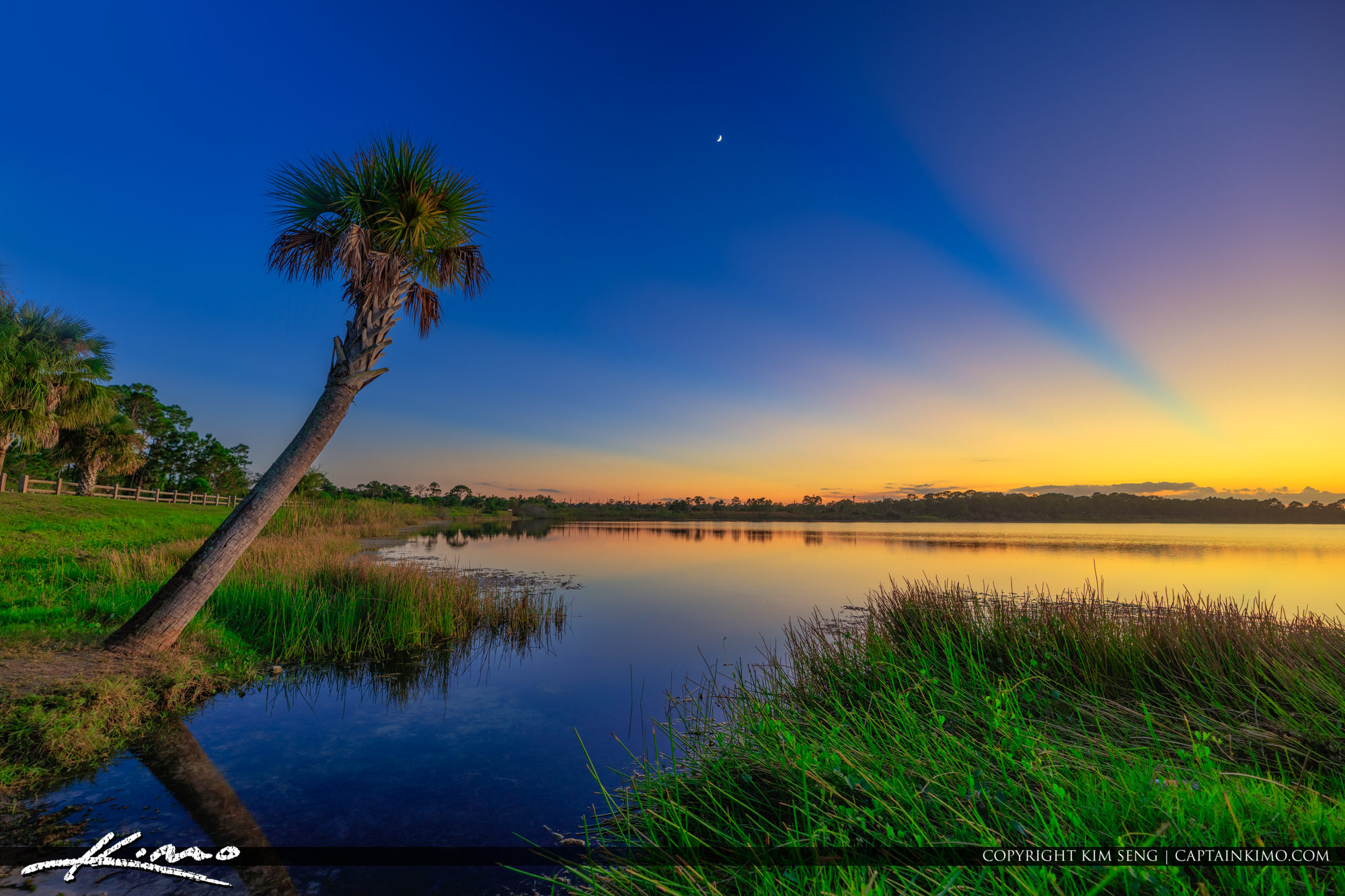 George LeStrange Preserve Sunset at Canoe Launch Fort Pierce Florida