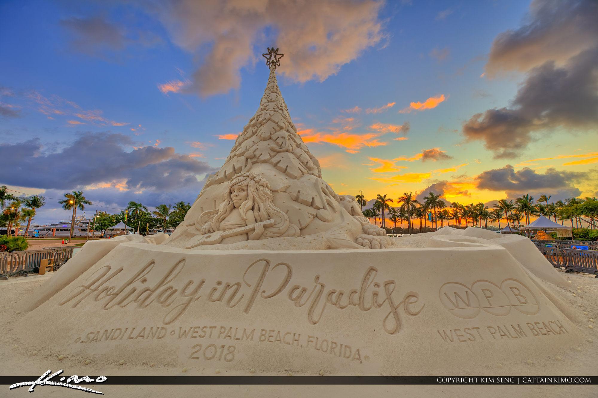 Sandiland West Palm Beach Florida Christmas Tree Downtown 2018