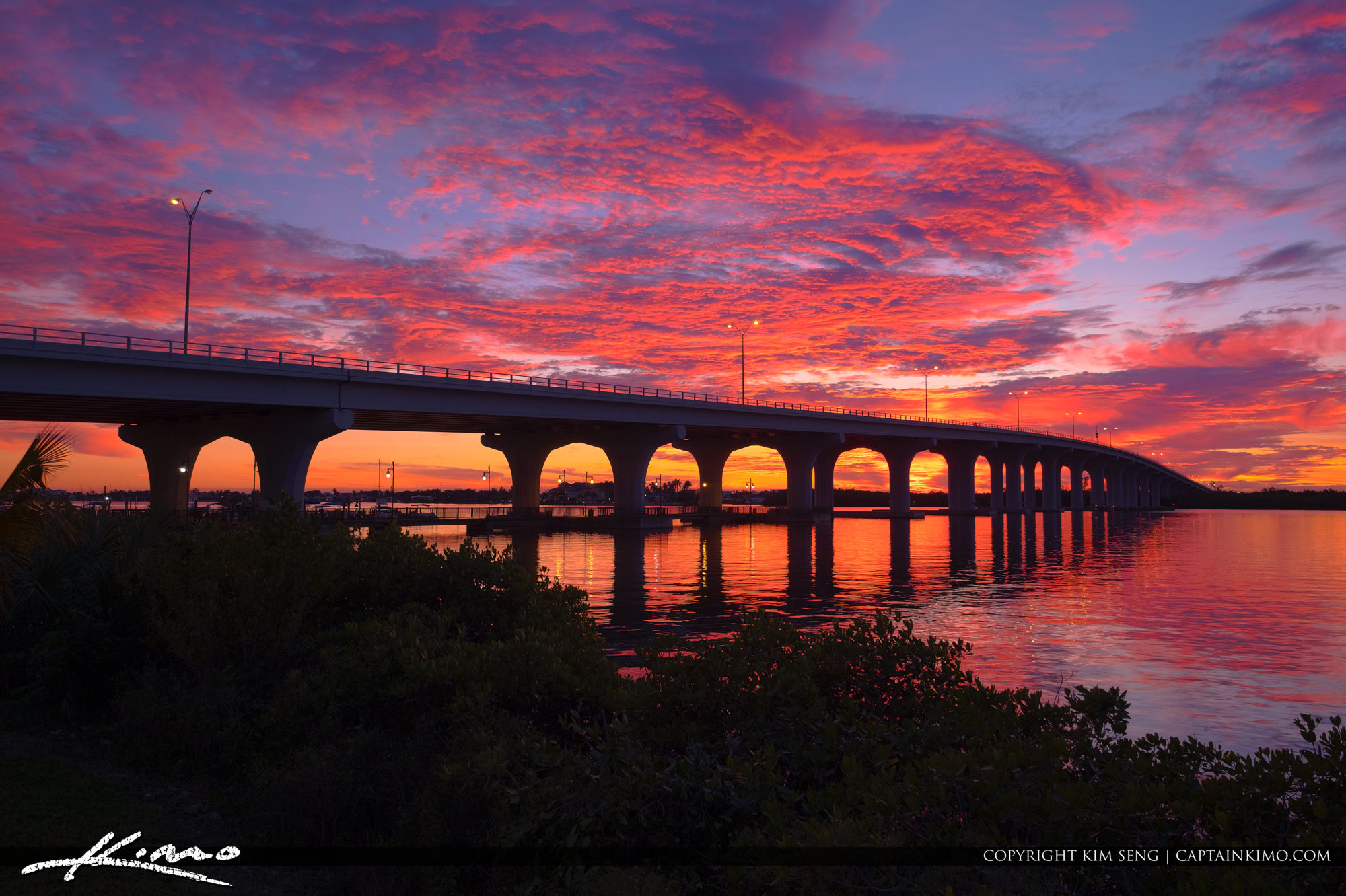 Vero Beach Bridge Indian River County Sunset