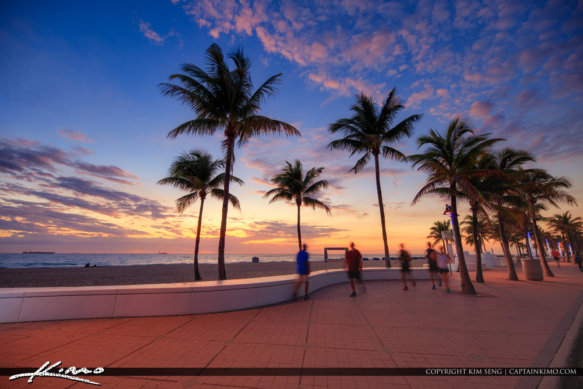Morning Excercise Fort Lauderdale Las Olas Florida at Beach