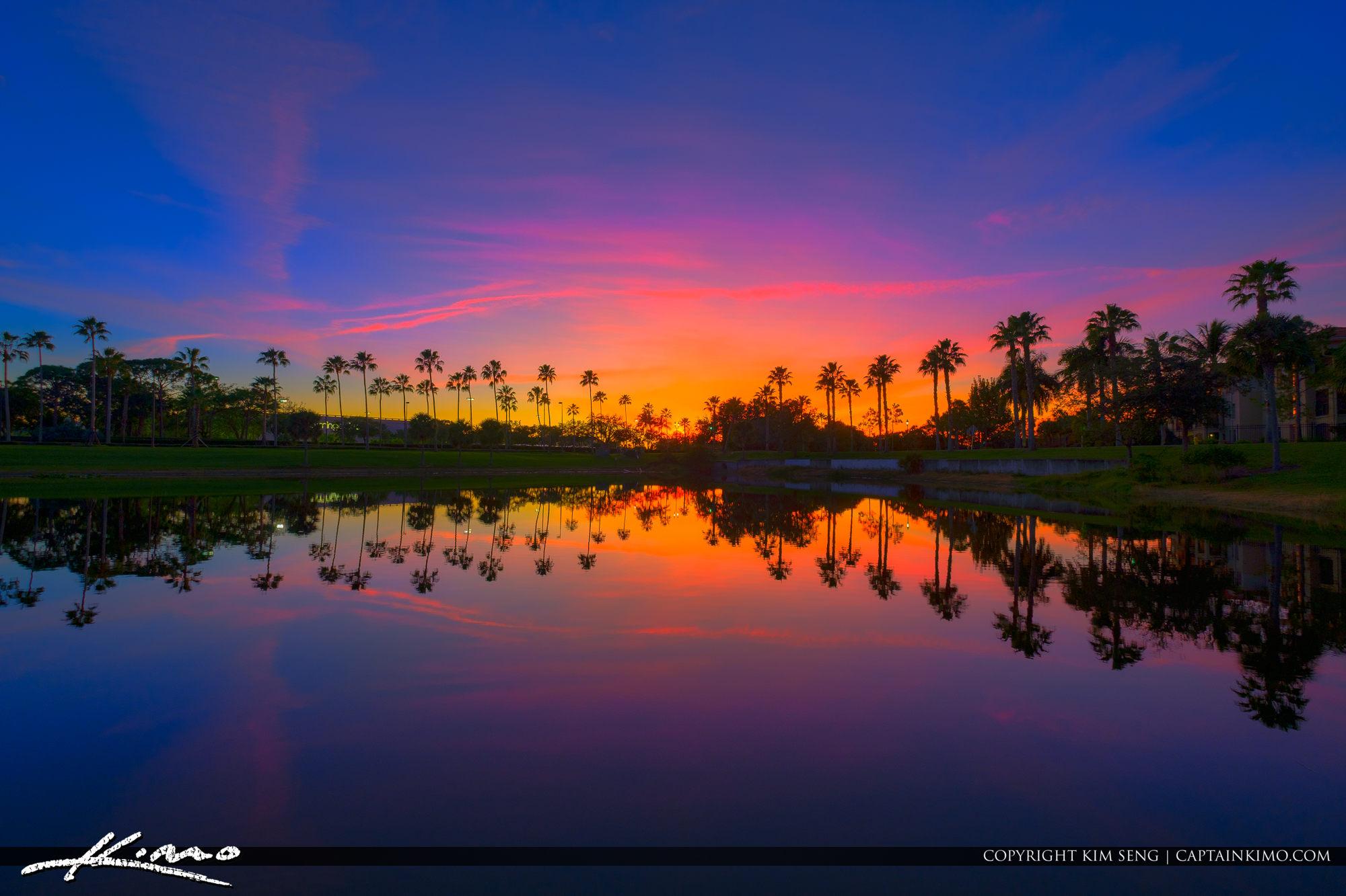 Christmas Eve 2018 Sunset Palm Beach Gardens Florida