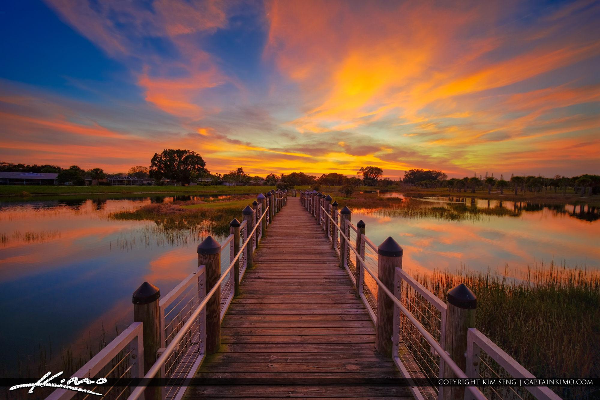 Royal Palm Beach Sunset Commons Park Bridge