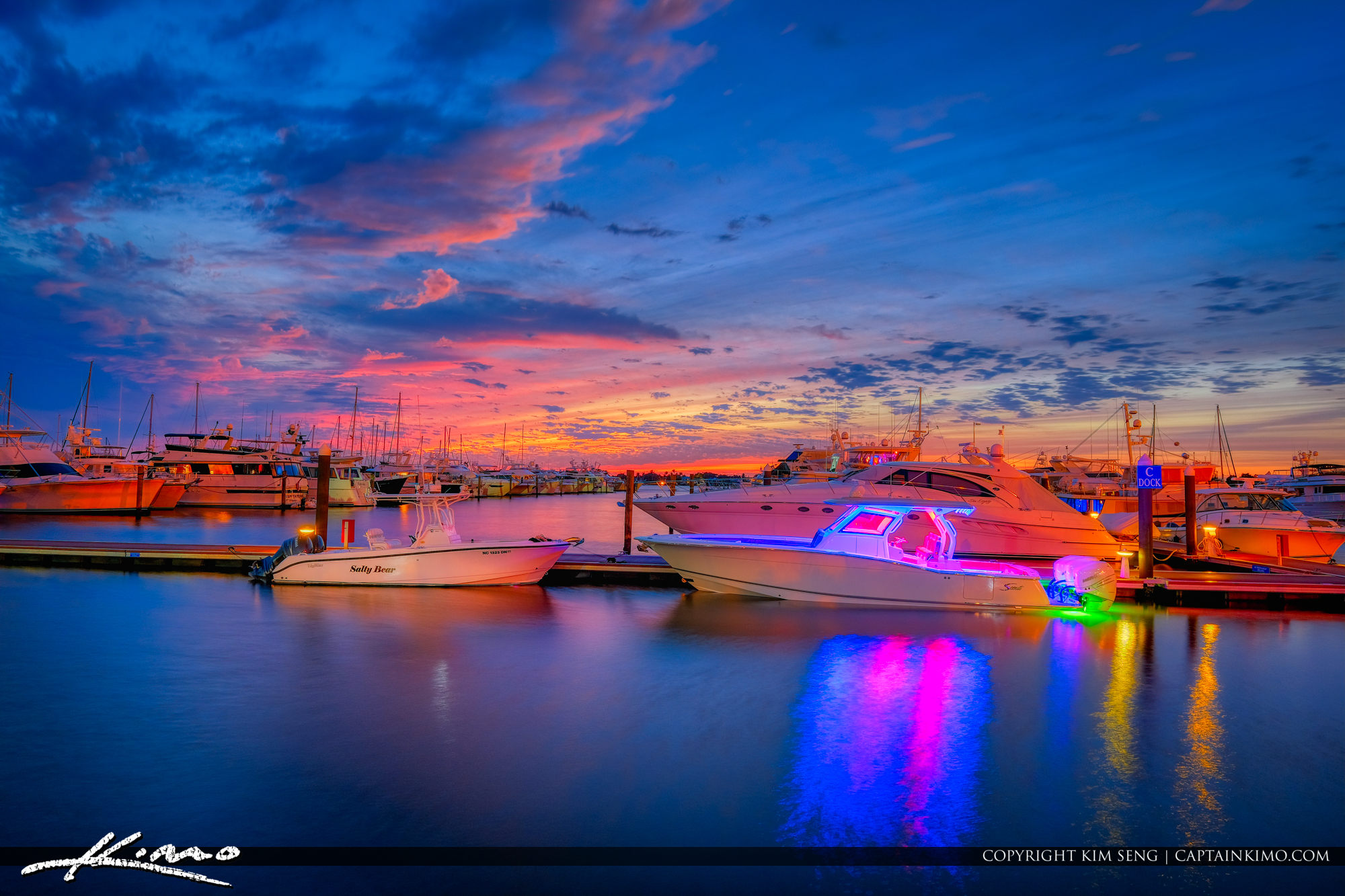 Stuart Florida Sunset Marina Sailor's Return