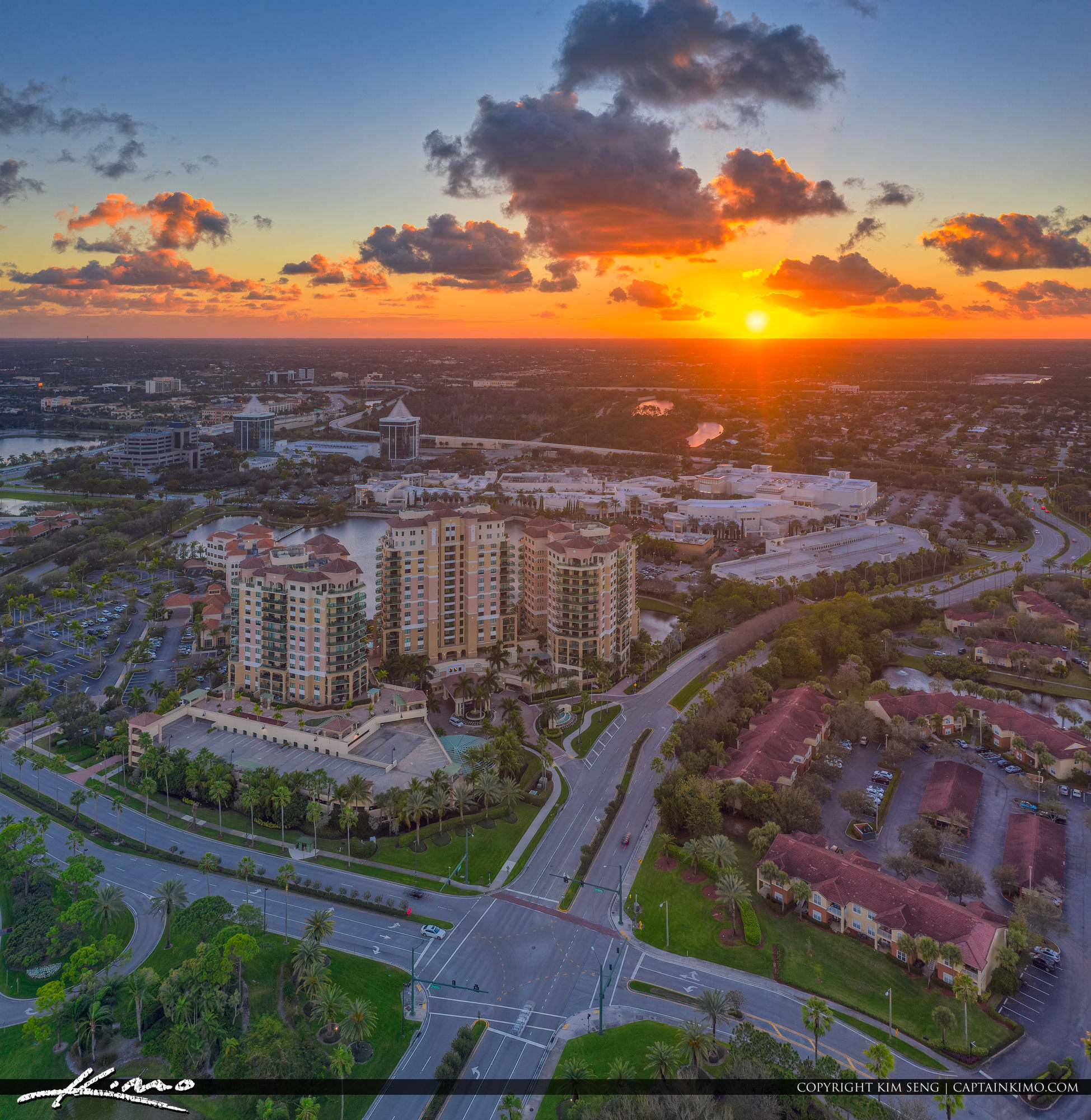 Palm Beach Gardens Epic Aerial Photography Sunset Real Estate Property
